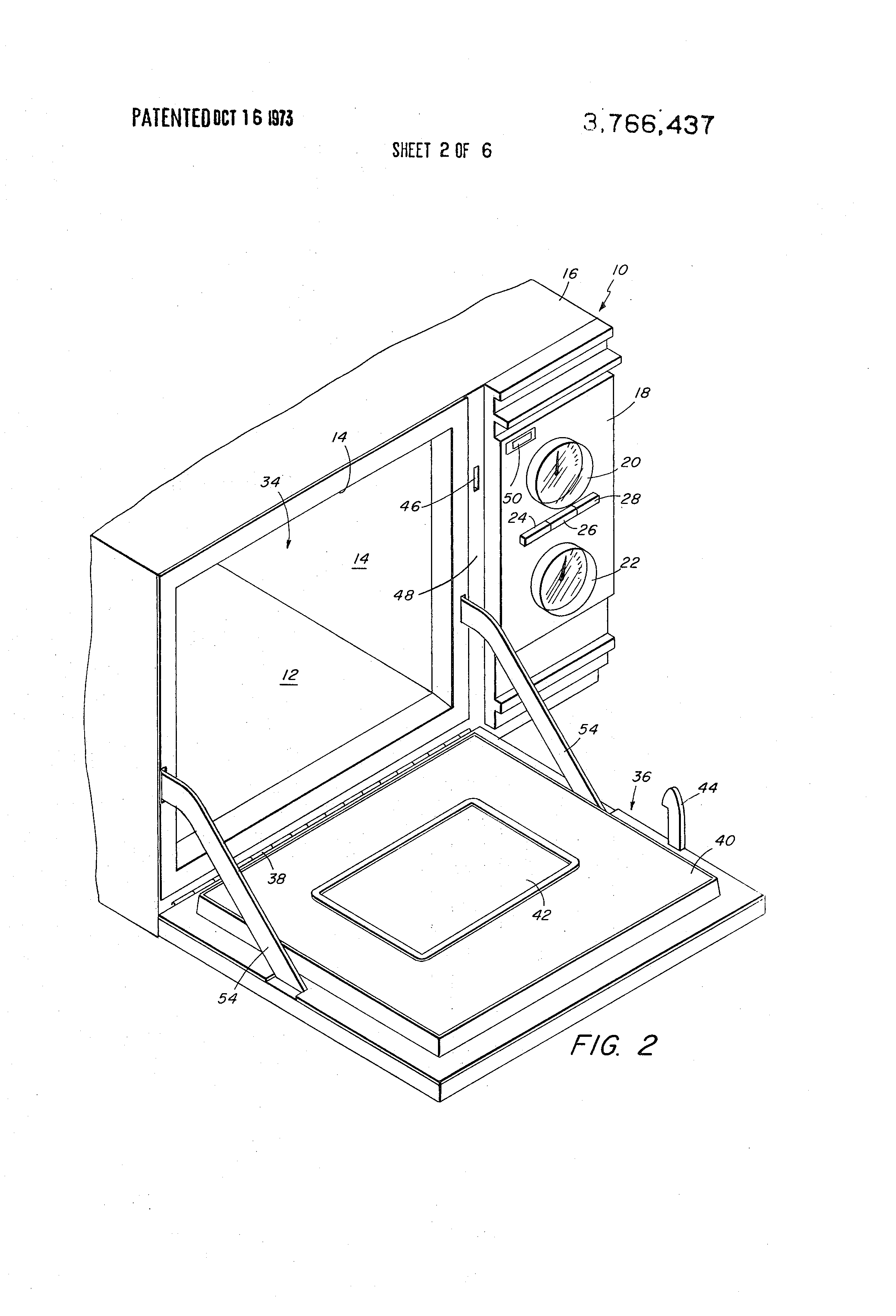 patent us3766437 - safety interlock system for microwave ovens
