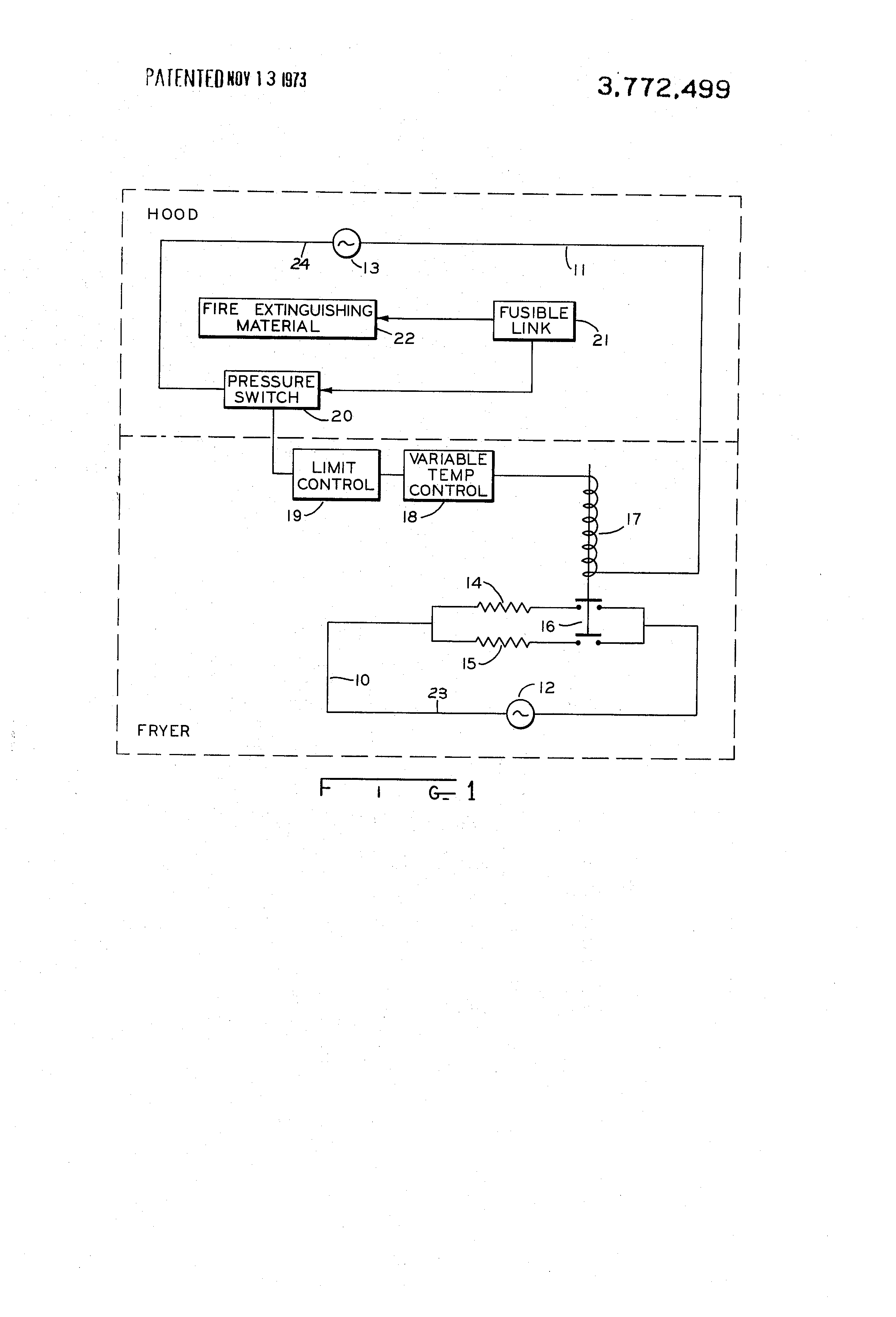 patent us3772499 fryer circuit for use a hood circuit patent drawing