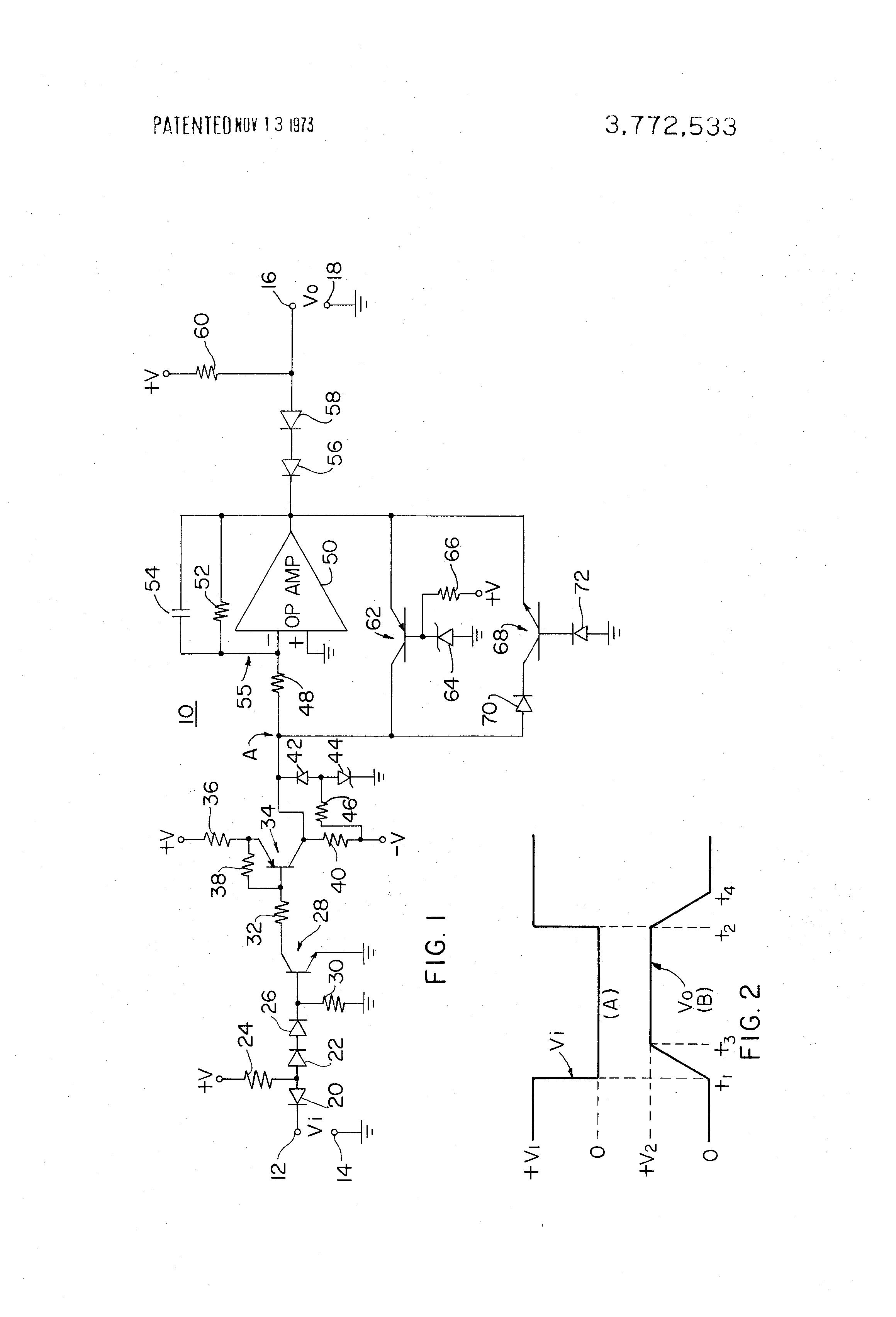 Patent US3772533 - Trapezoidal waveform generator circuit - Google