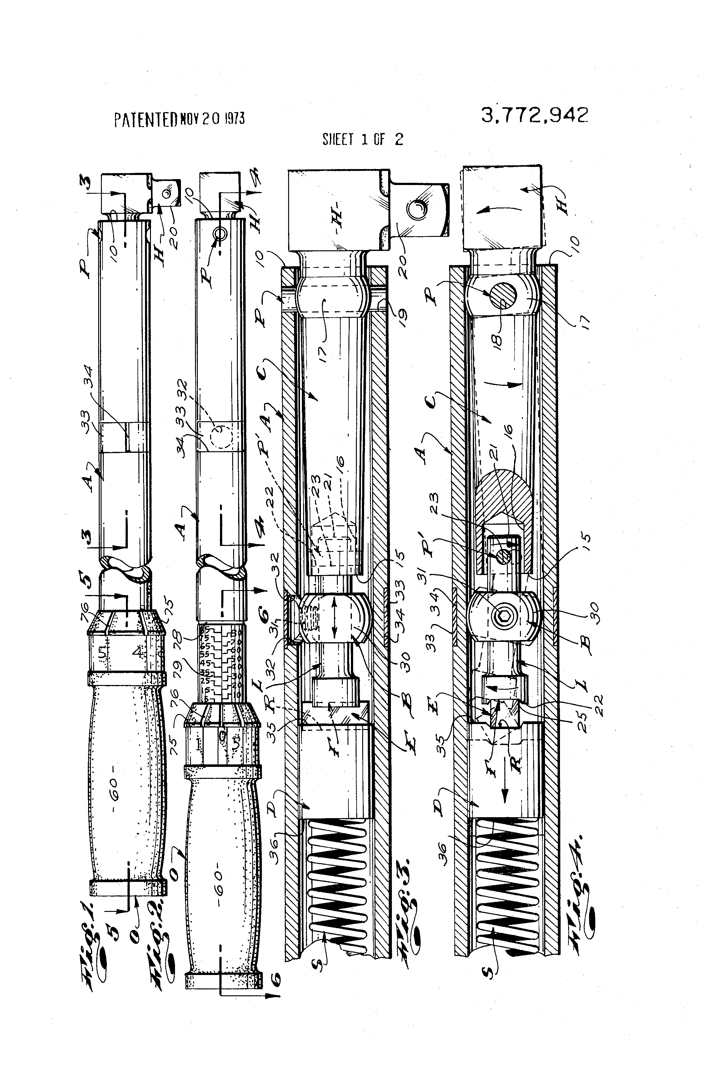 Patent US3772942 - Adjustable torque wrench - Google Patents