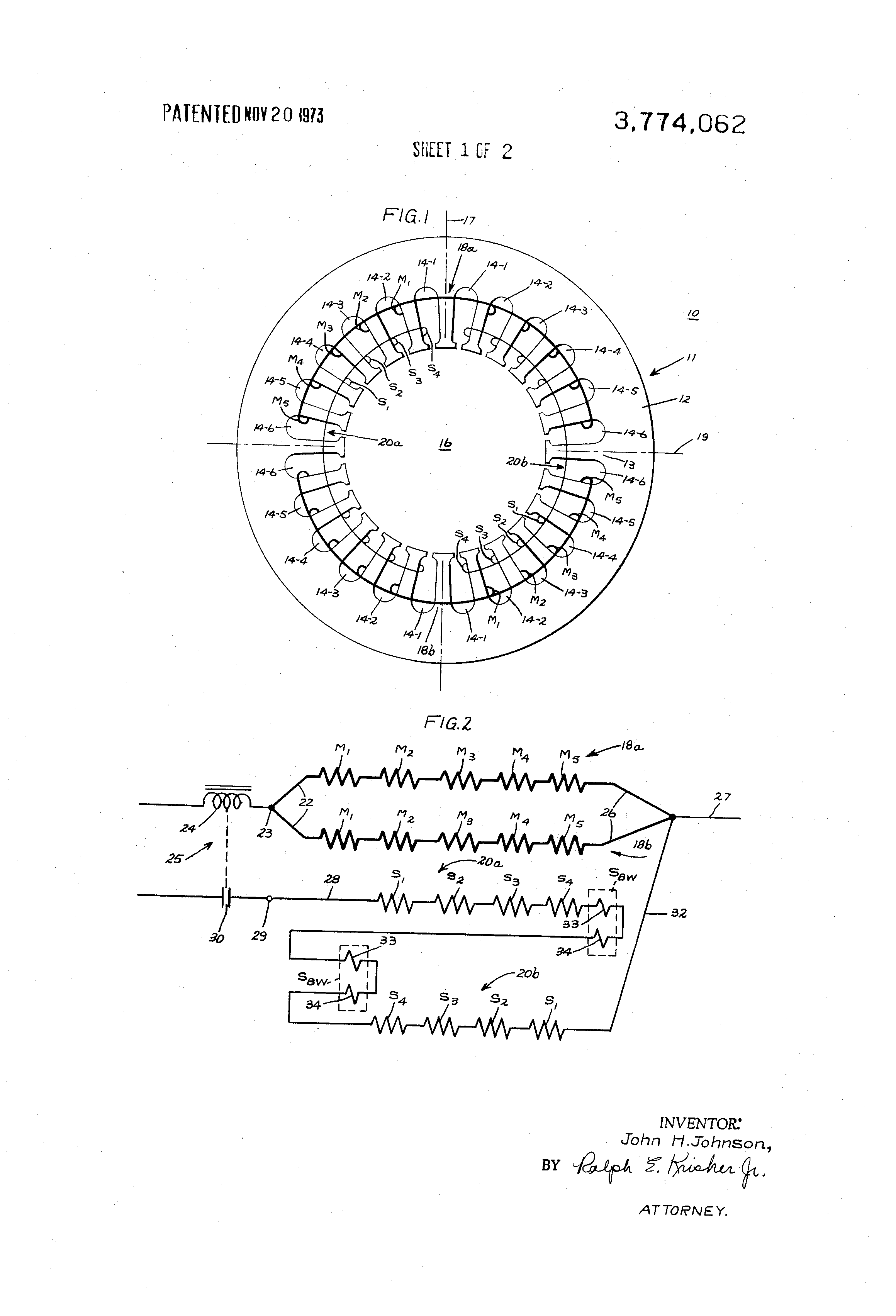 Patent Us3774062 Stator Assembly For Single Phase