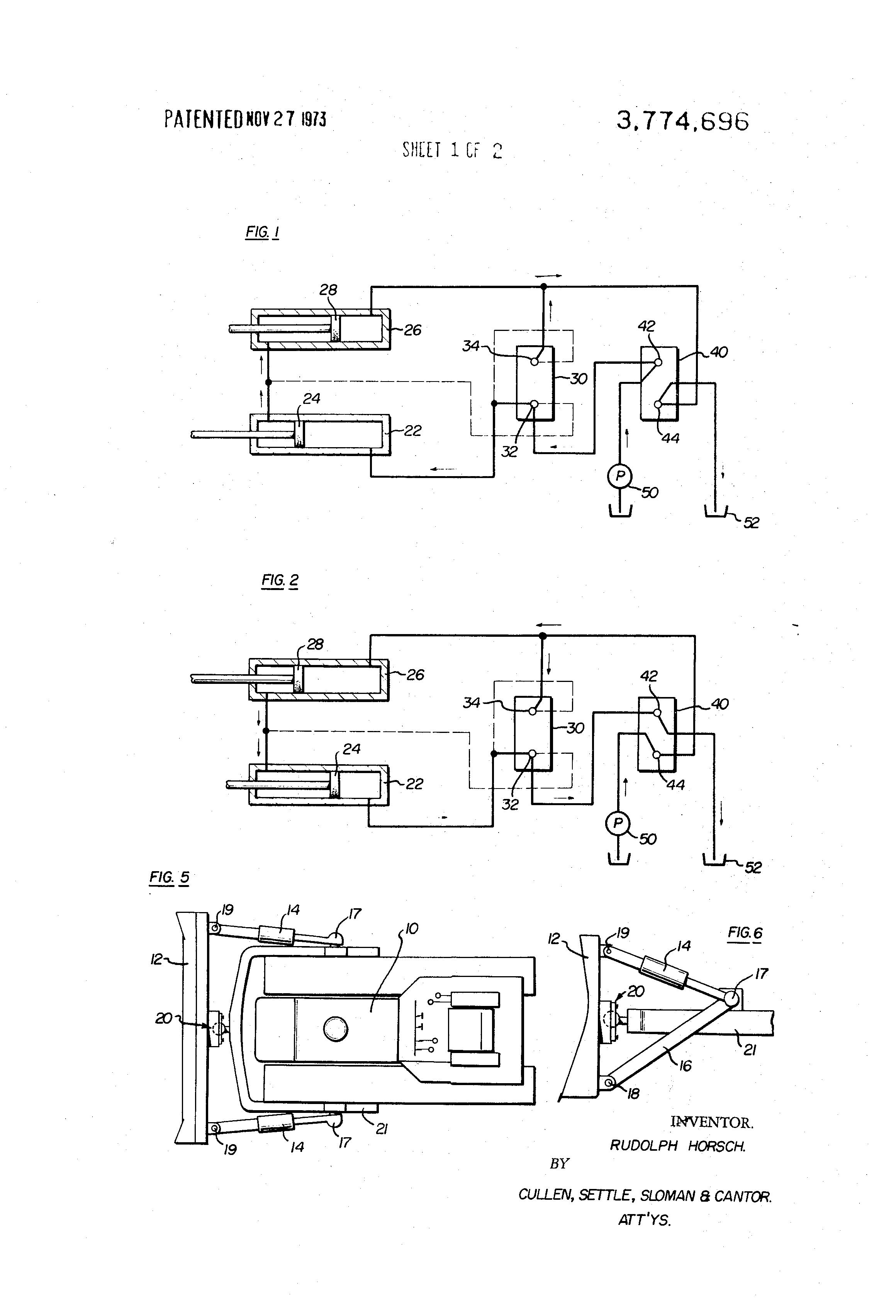 Dozer Hydraulic System Schematic Modern Design Of Wiring Diagram Basic Simple Brevet Us3774696 Pitch Tilt Circuits For Blades Rh Google Dj Aircraft Systems