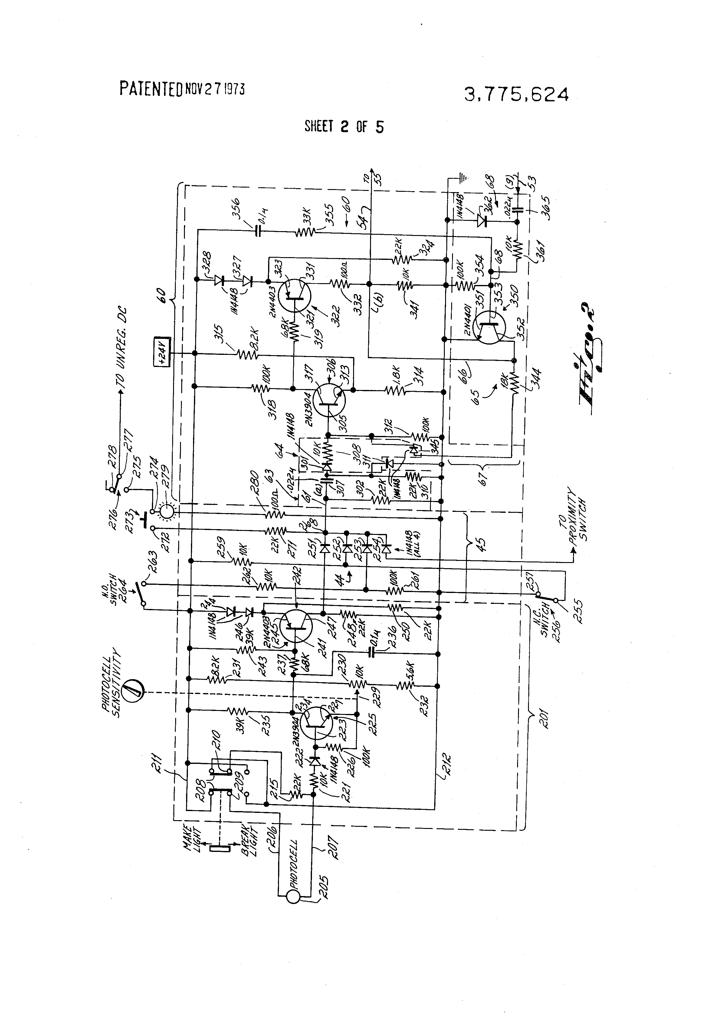 Patent Us3775624 Control Circuit For Generating Output Signal Of Wiring Diagram Additionally Pnp Or Npn Proximity Sensor On Drawing