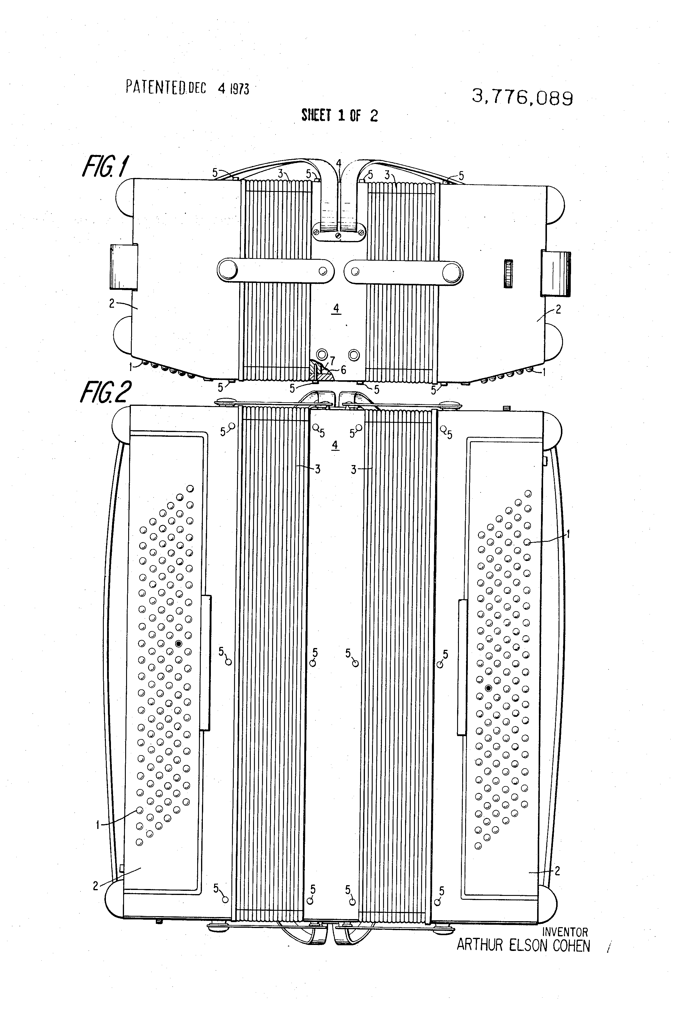 Patent us3776089 musical instrument similar to the accordion patent drawing hexwebz Choice Image