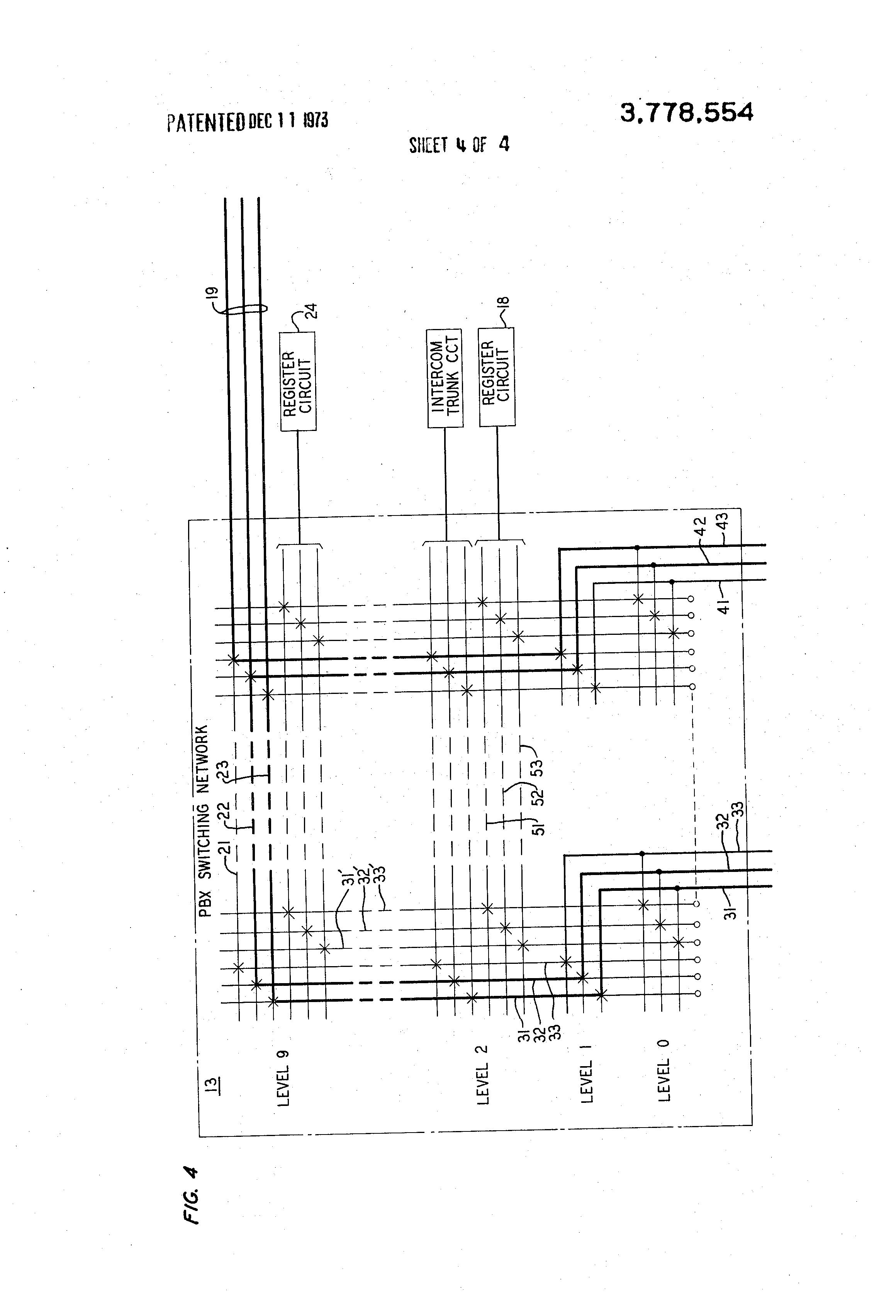 pbx wiring tutorial pbx image wiring diagram patent us3778554 single three wire port pbx intercom trunk on pbx wiring tutorial