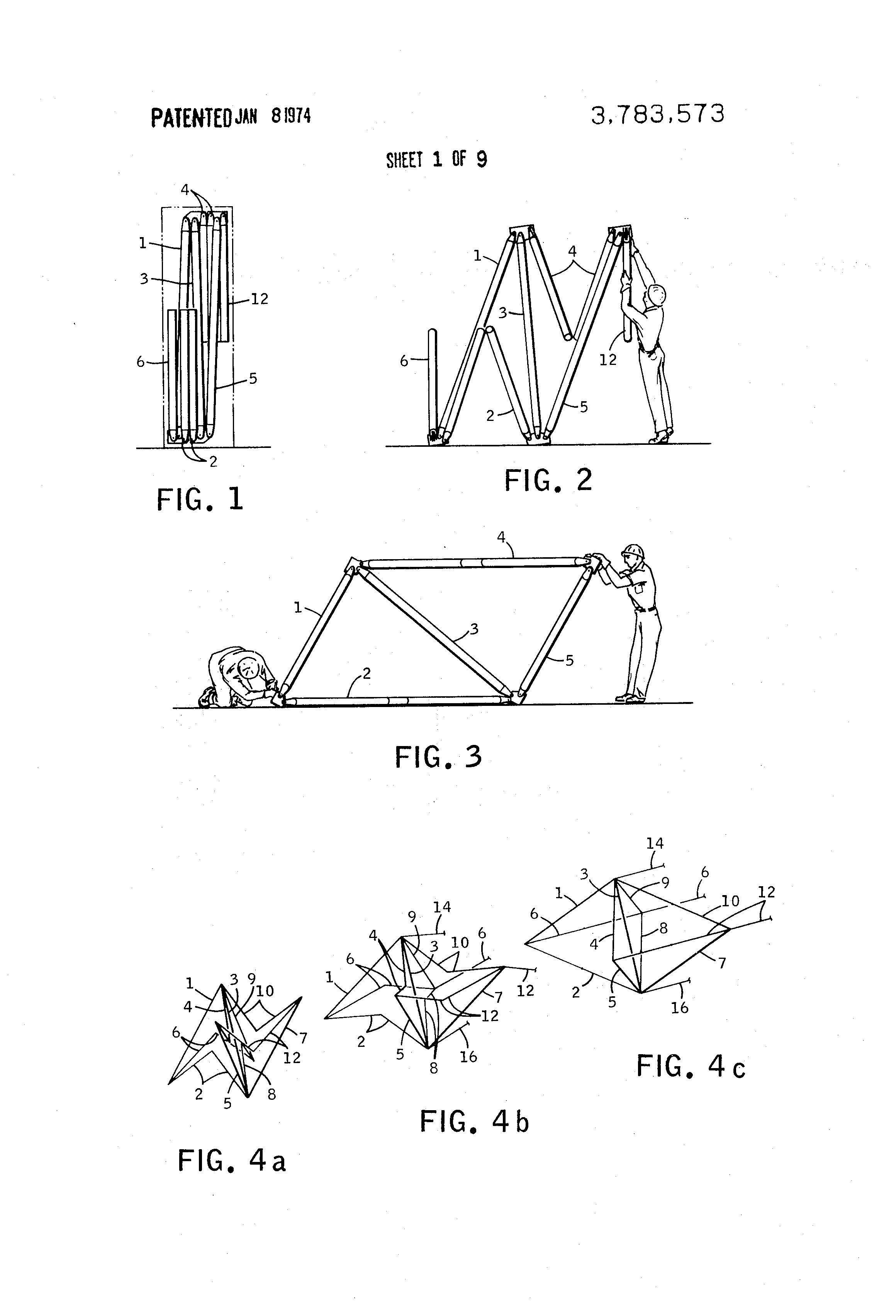 patent us3783573 - expandable truss structure