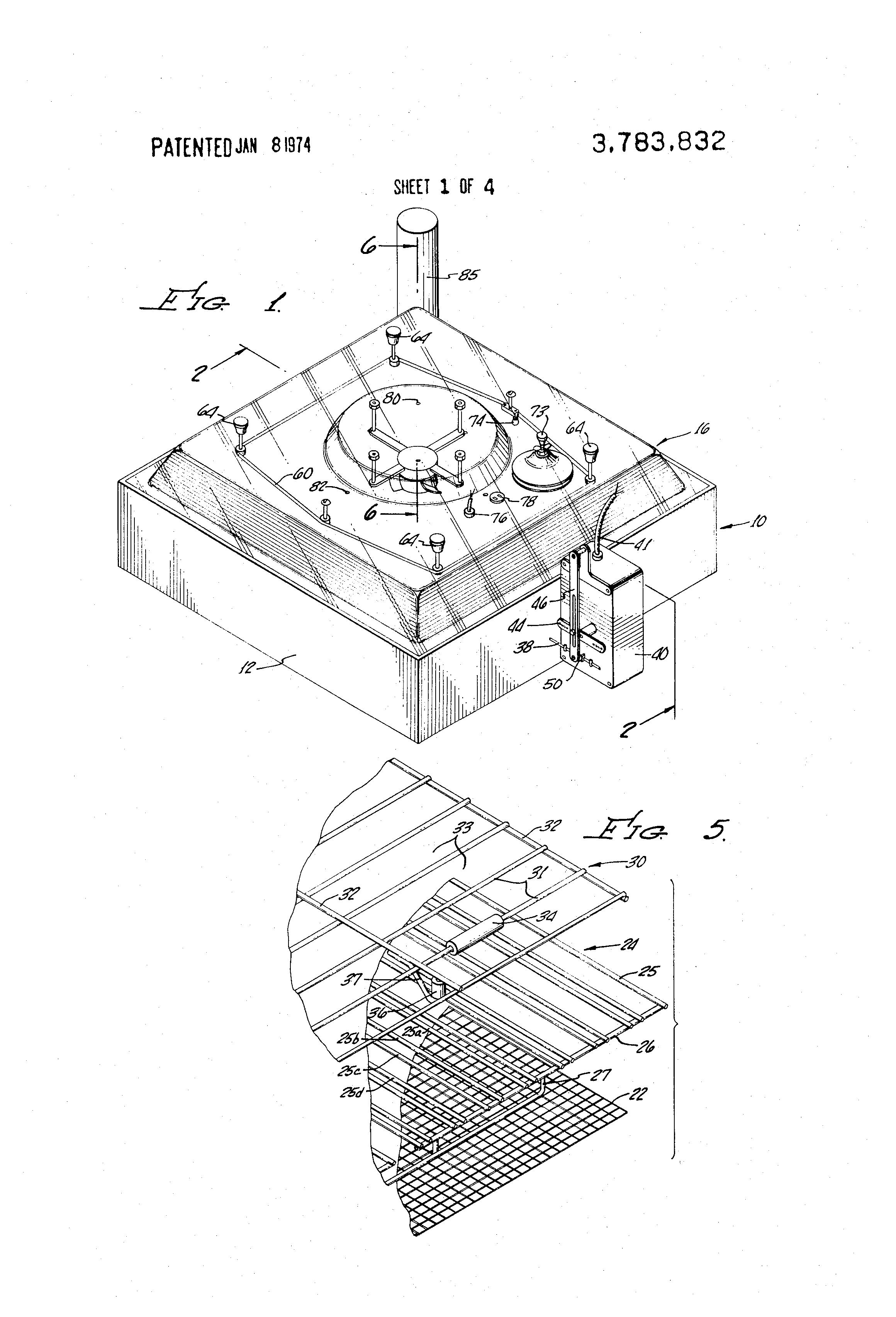 patent us3783832 - automatic egg incubator