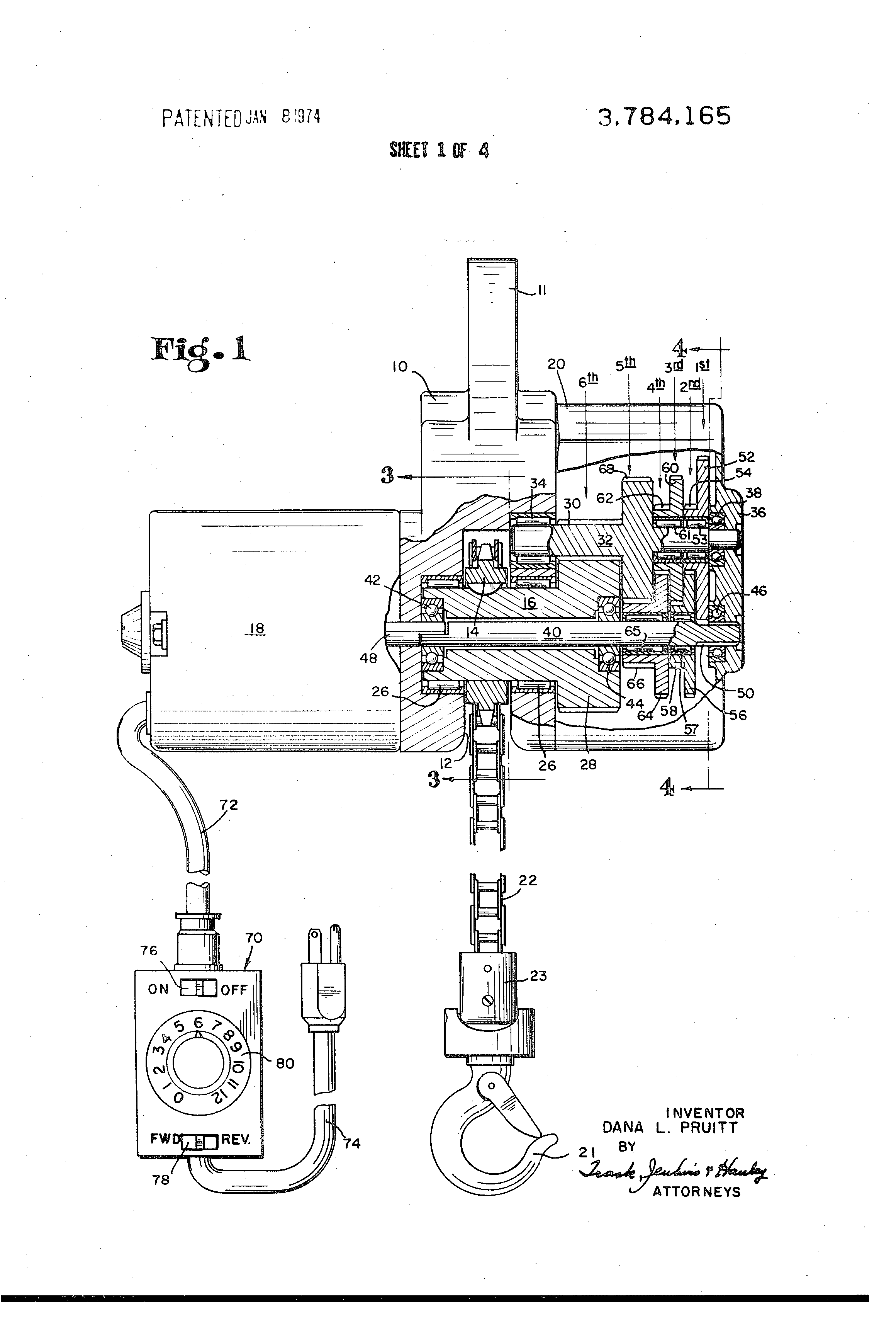 US3784165 1 patent us3784165 variable speed hoist google patents Lionel 165 Crane Motor Wiring at pacquiaovsvargaslive.co
