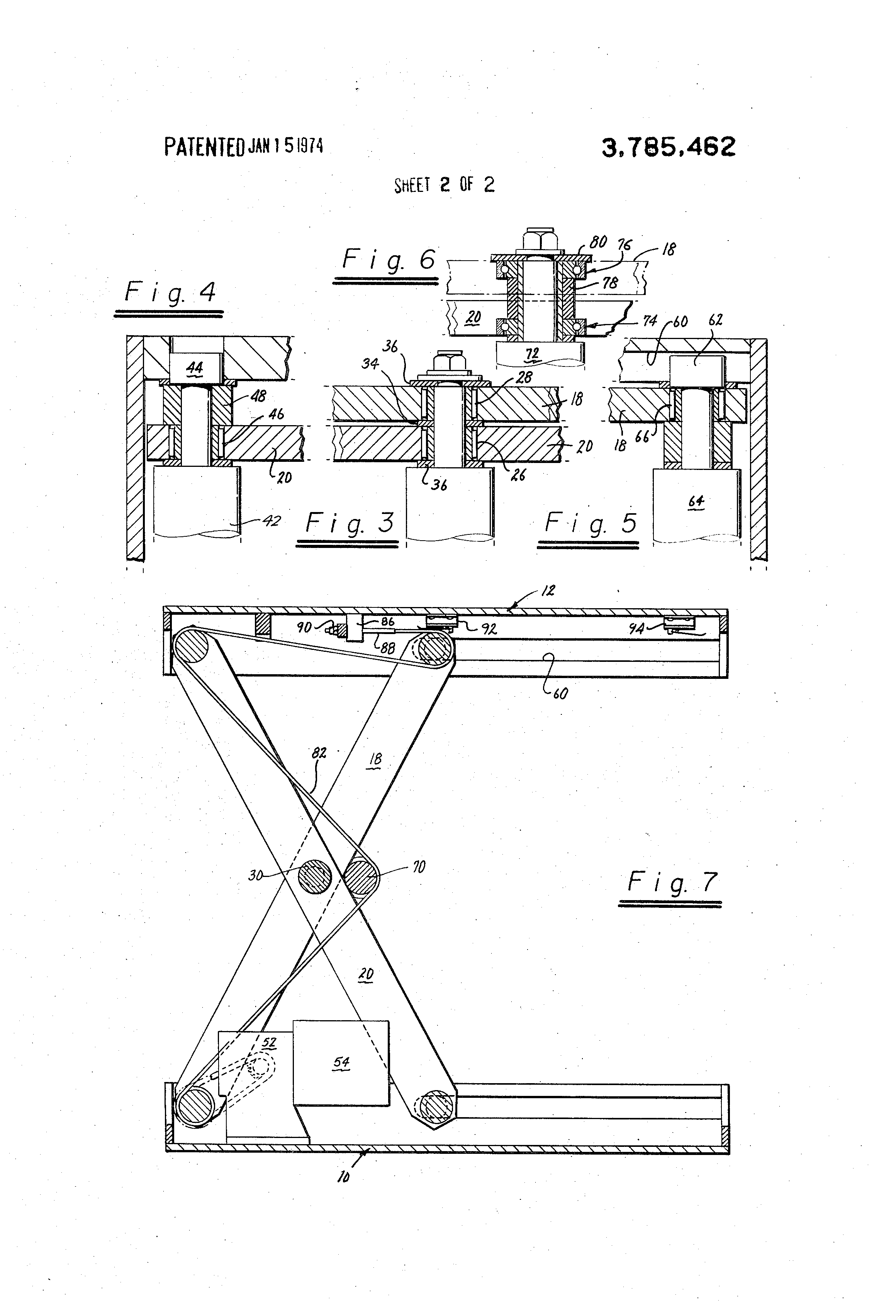 Patent Us3785462 Scissor Lift And Drive Mechanism