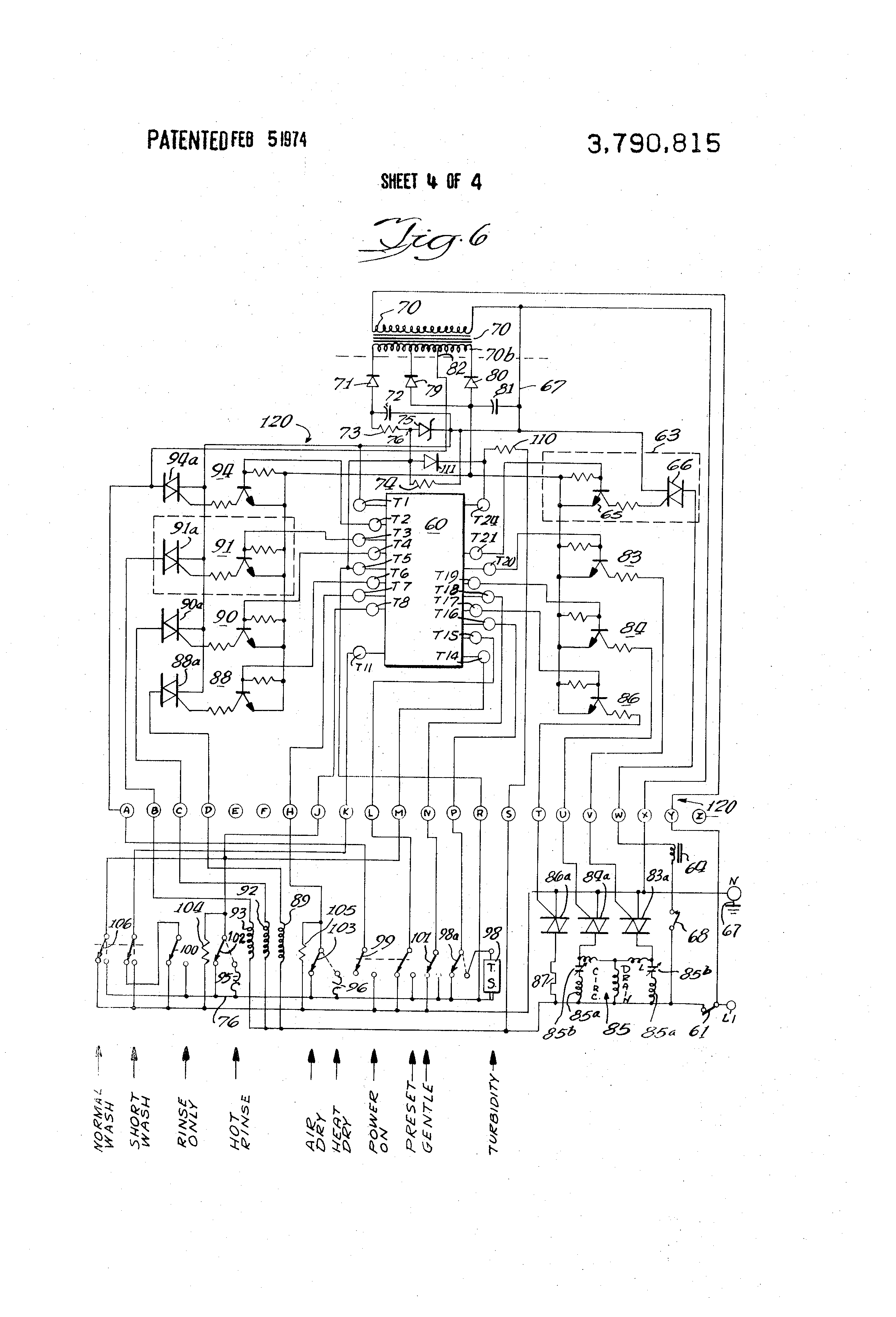 US3790815 4 patent us3790815 electronic control circuit for appliances rauland responder 5 wiring diagram at fashall.co