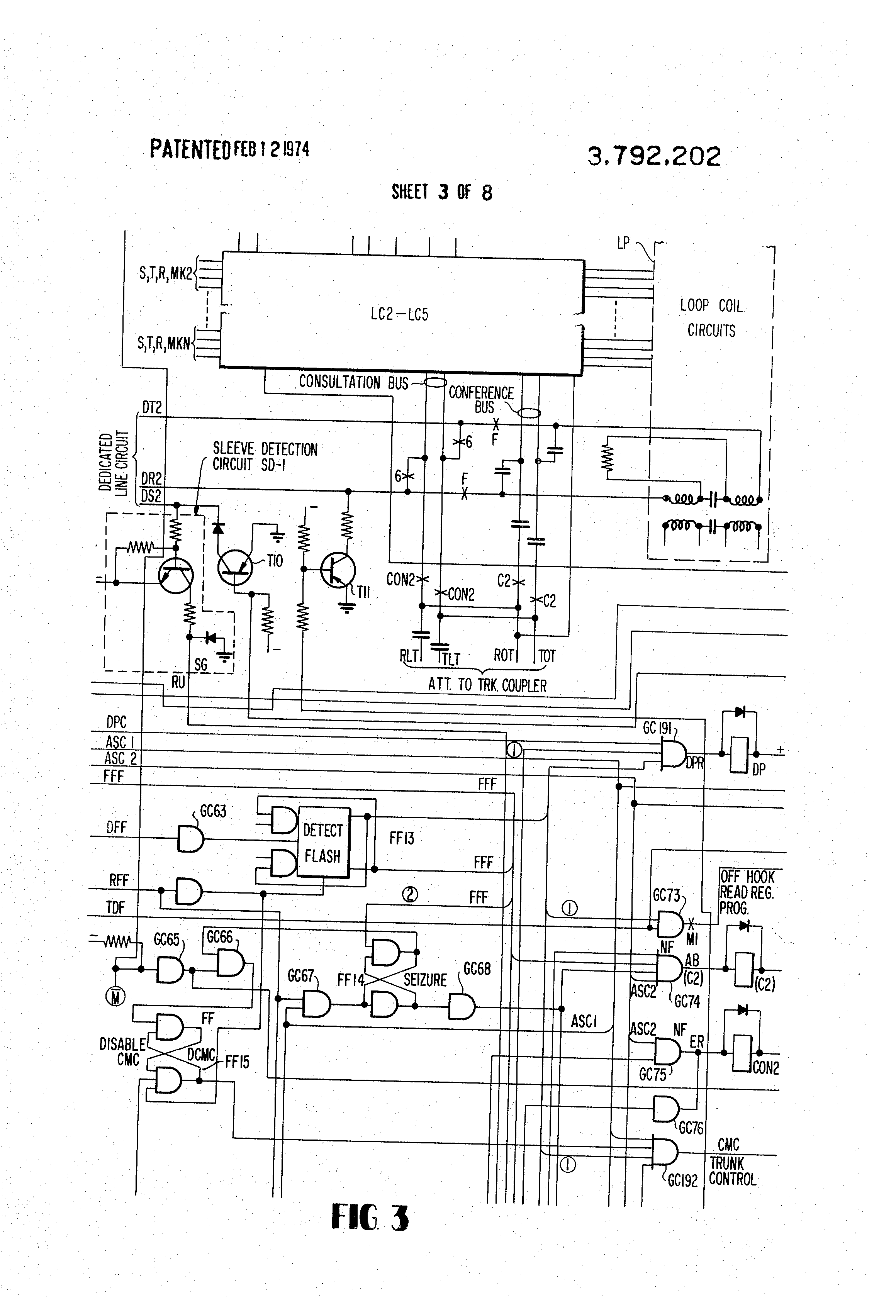 patent us3792202 - dial up conference circuit
