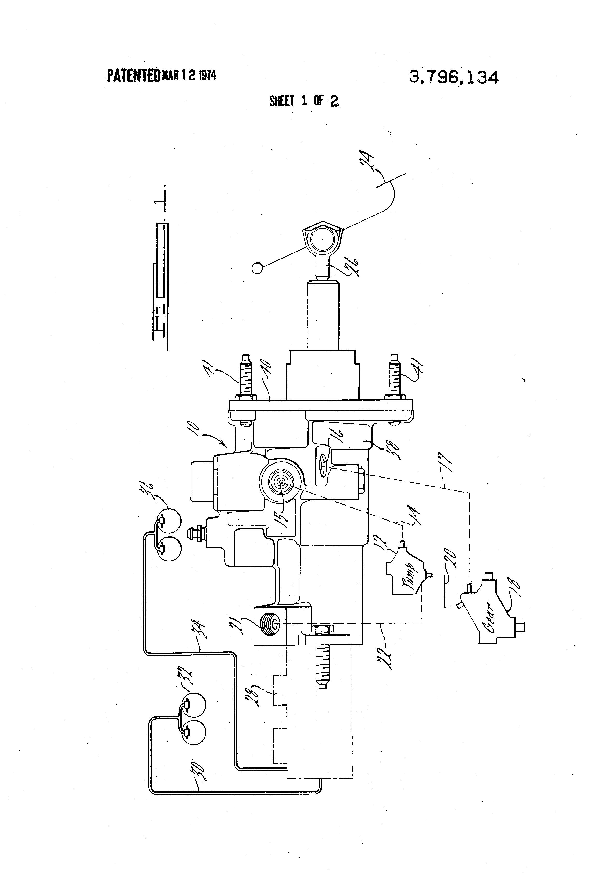 Patent US3796134 - Hydraulic booster brake mechanism - Google Patents