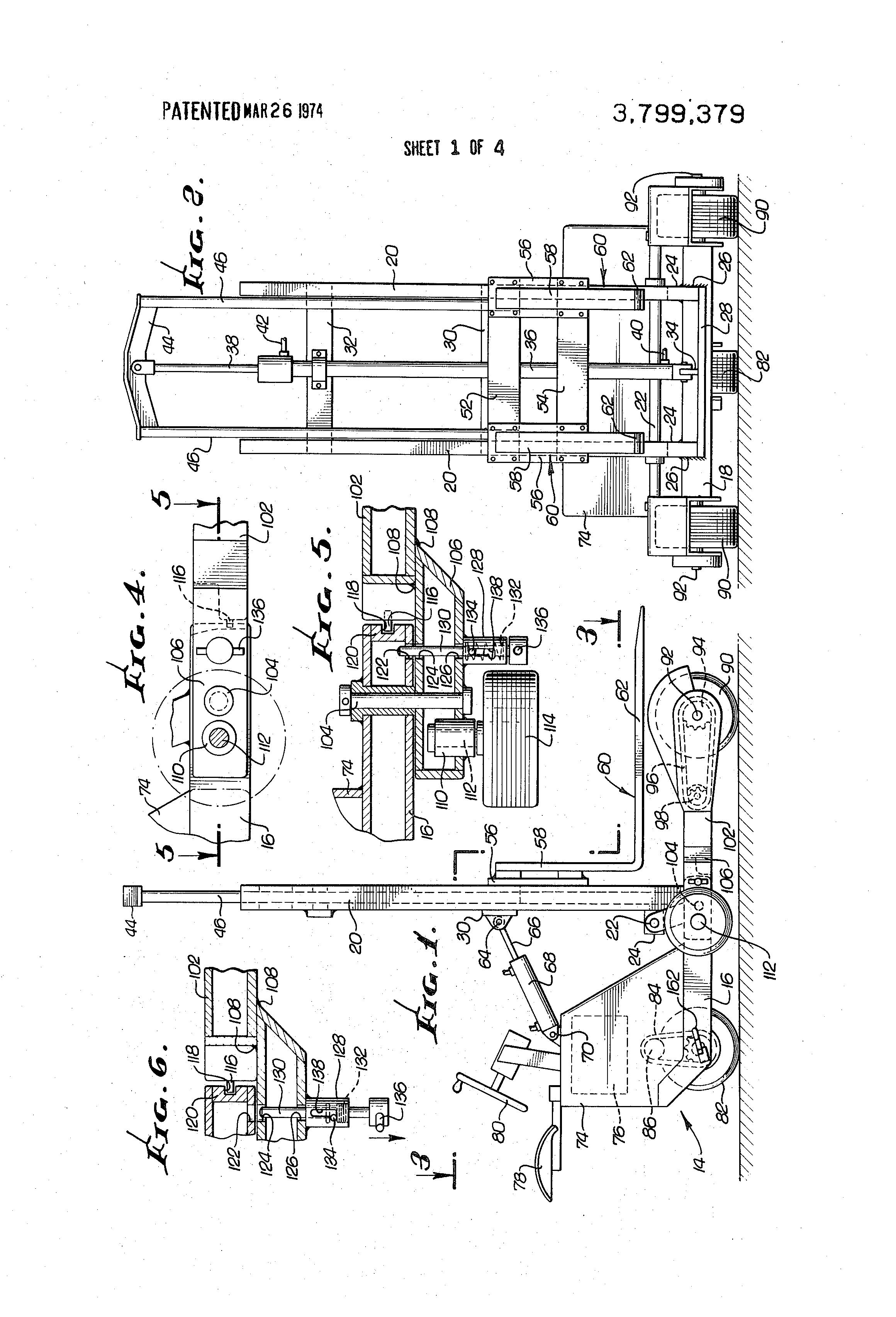 patent us3799379 - fork lift