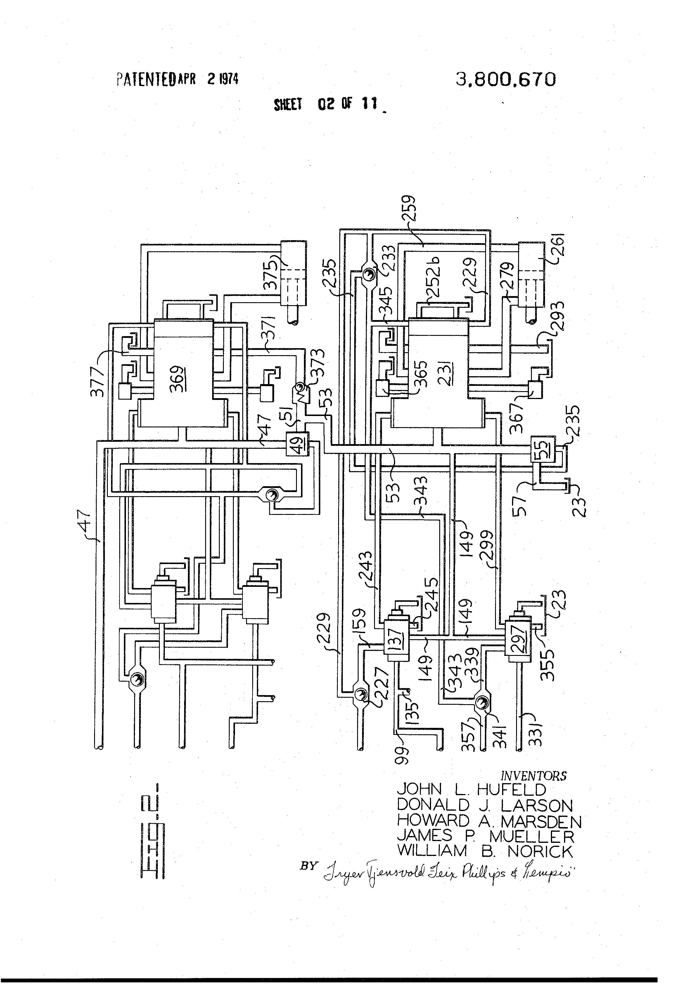 patent us3800670 high pressure implement hydraulic circuit patents