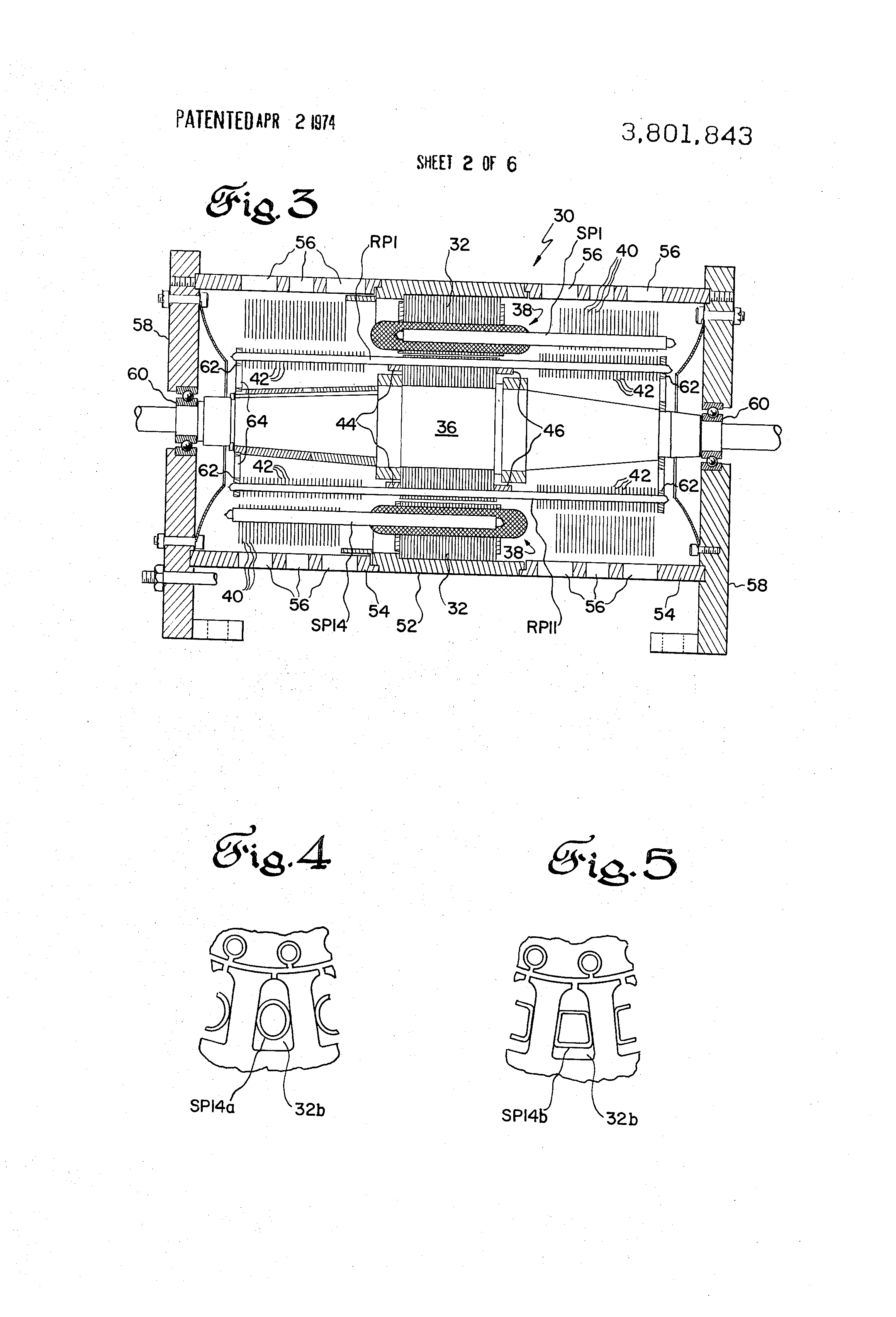 Patent Us3801843 Rotating Electrical Machine Having