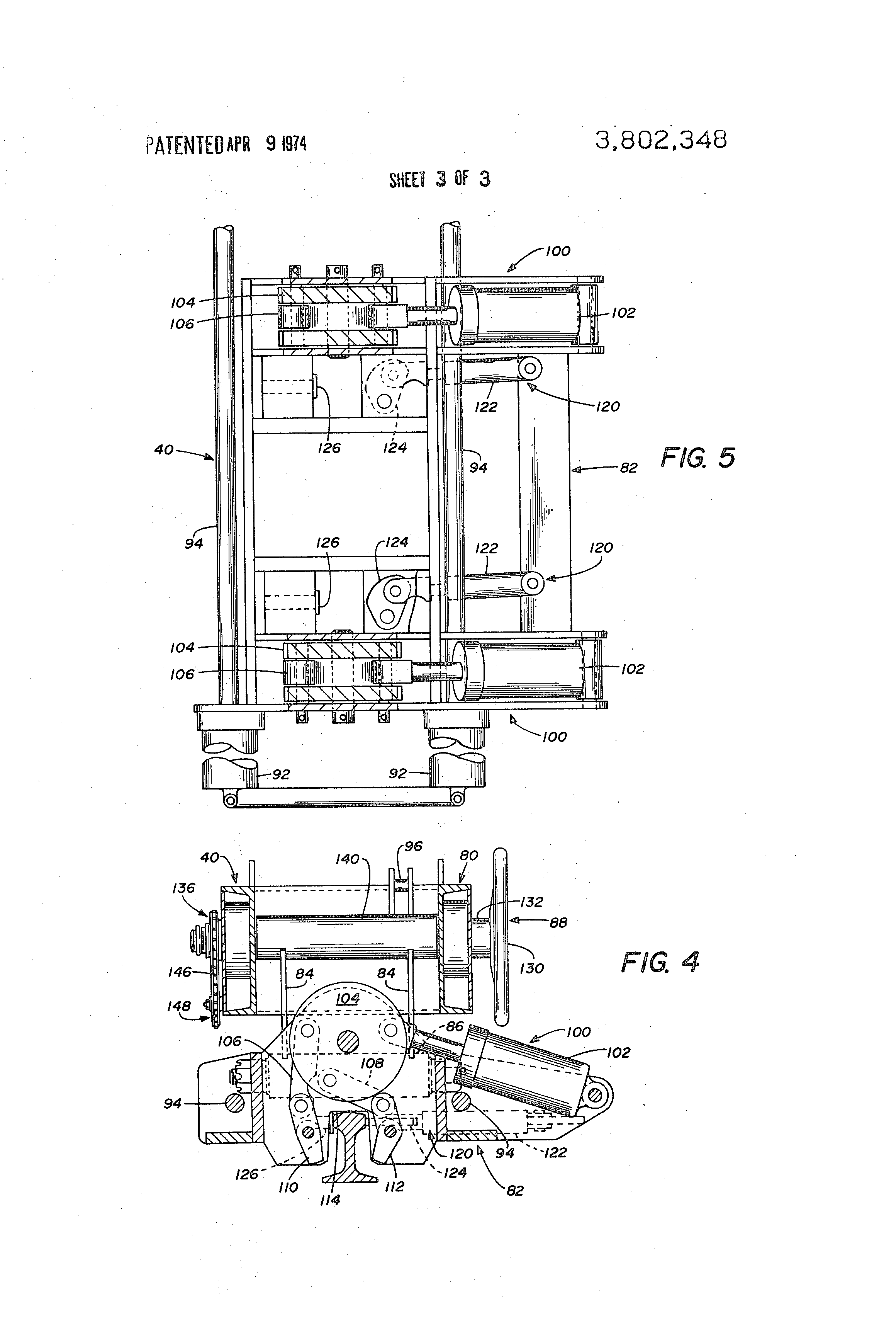 Patent Us3802348 Track Welding System Google Patents Oxy Acetylene Equipment Diagram Drawing