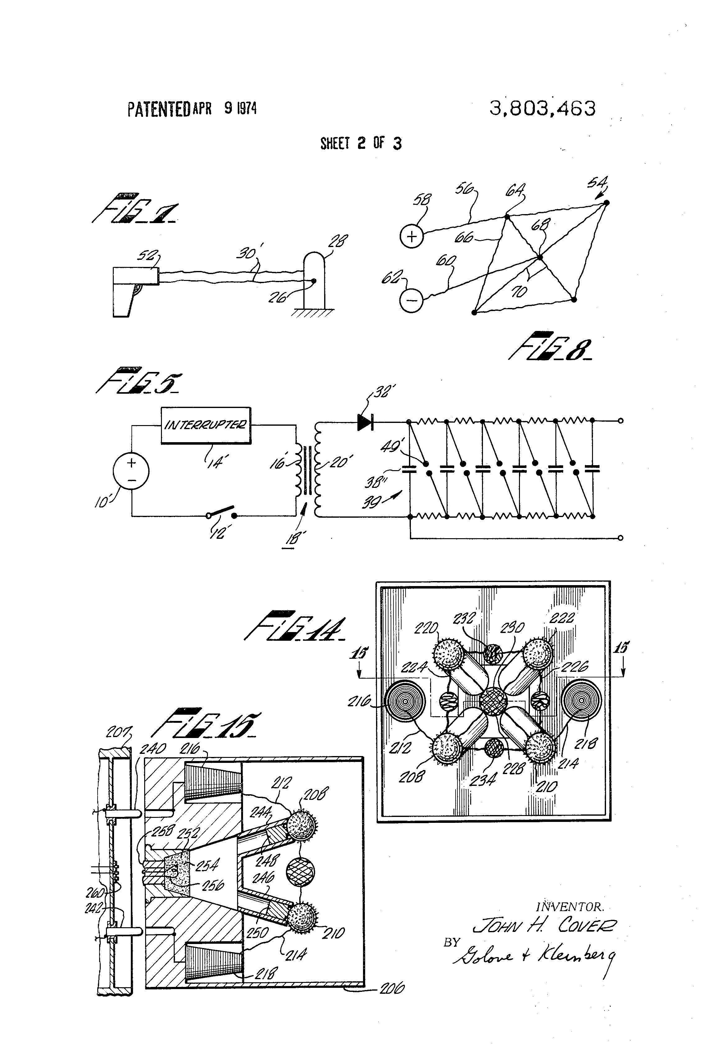 US3803463 2 patent us3803463 weapon for immobilization and capture google dennis dart wiring diagram at bayanpartner.co