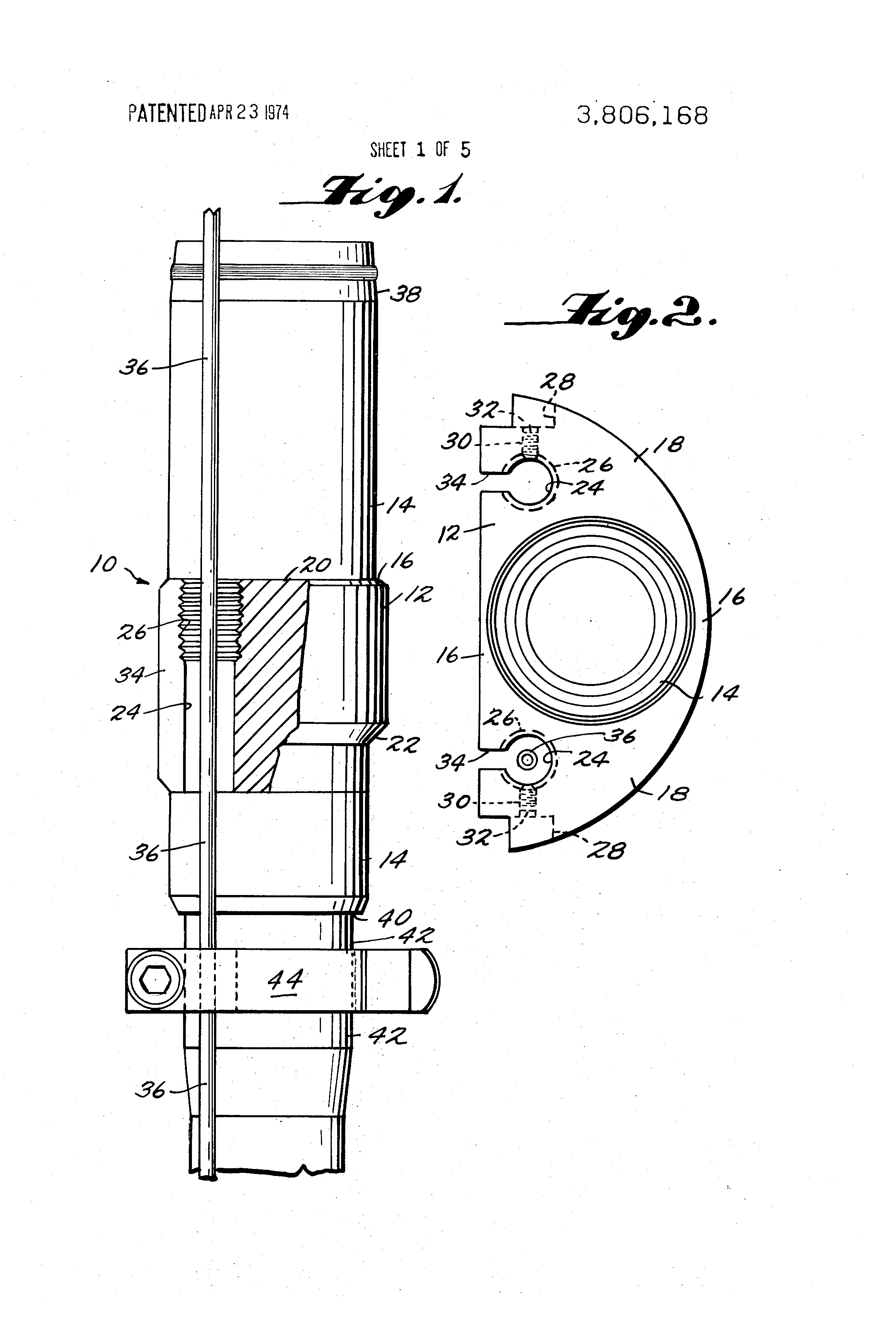 patent us3806168 control line installation for down hole safety