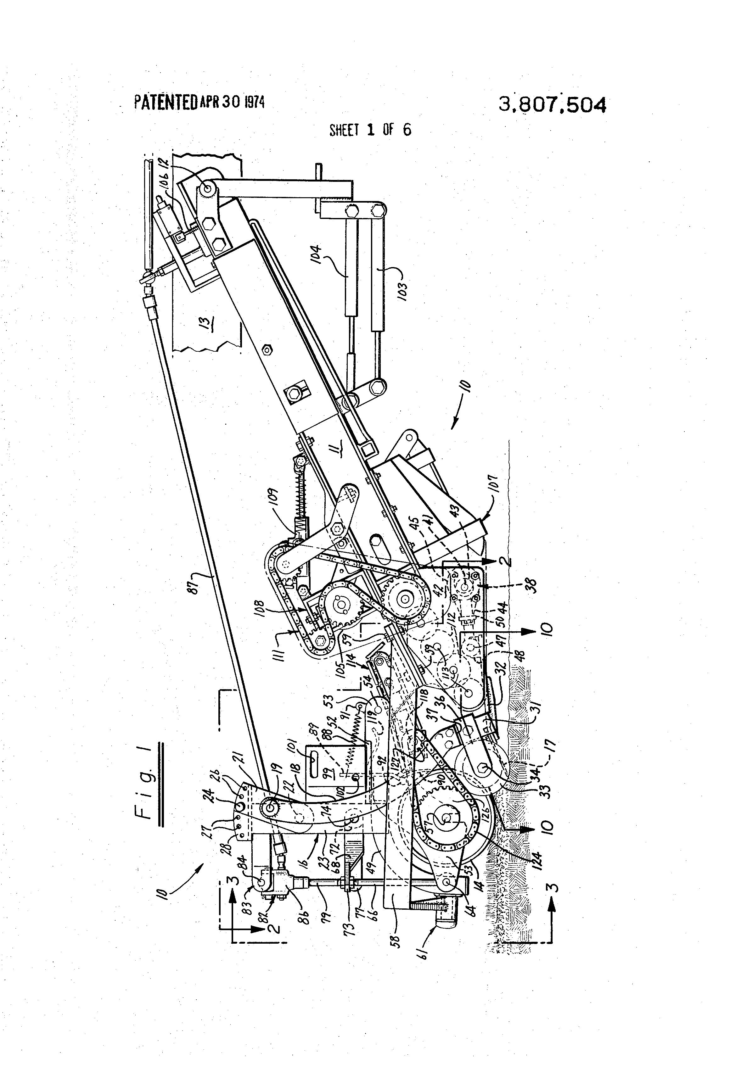 Patent US3807504 - Sod harvesting apparatus - Google Patents