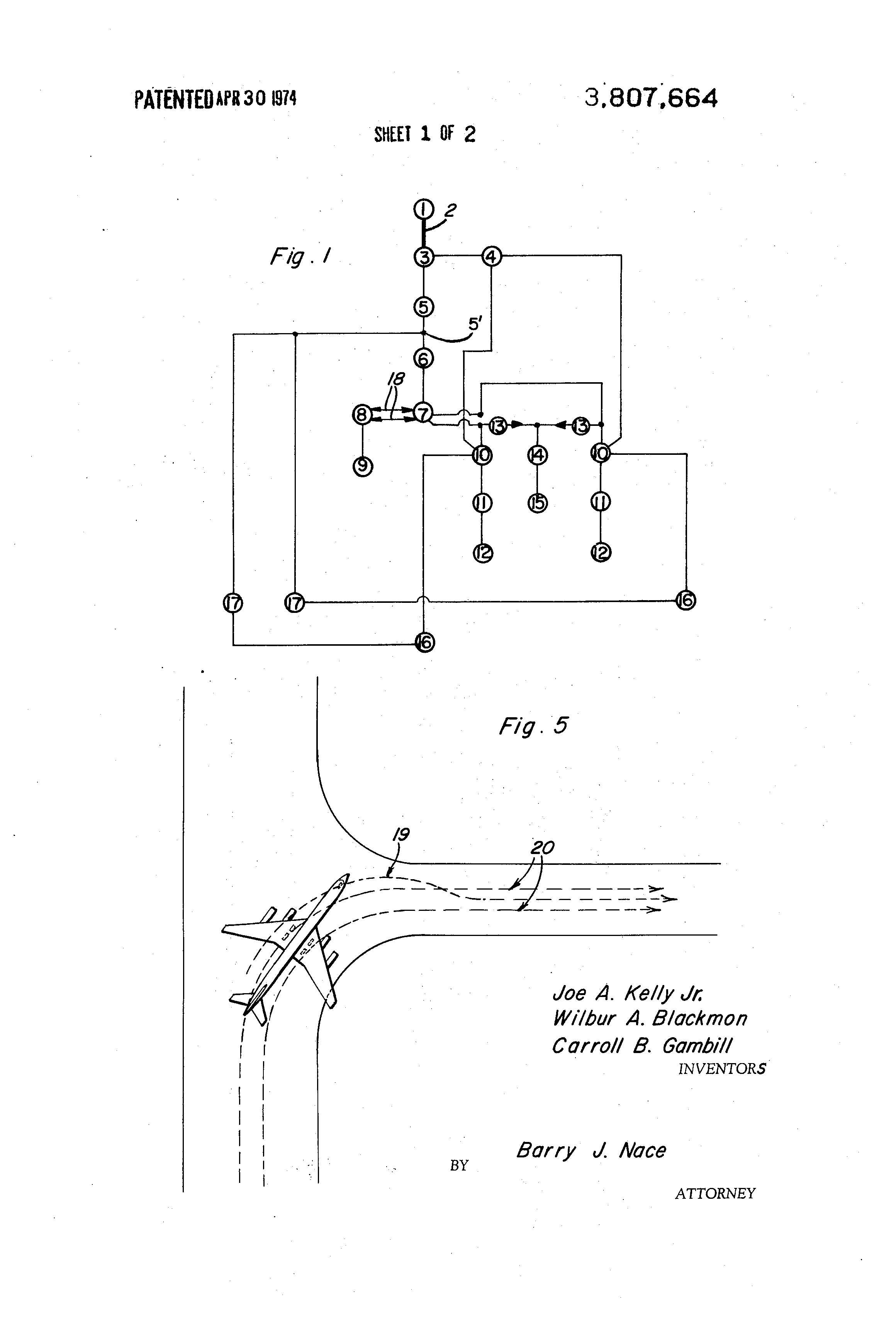 Patent Us3807664 Self Contained Aircraft Taxiing System