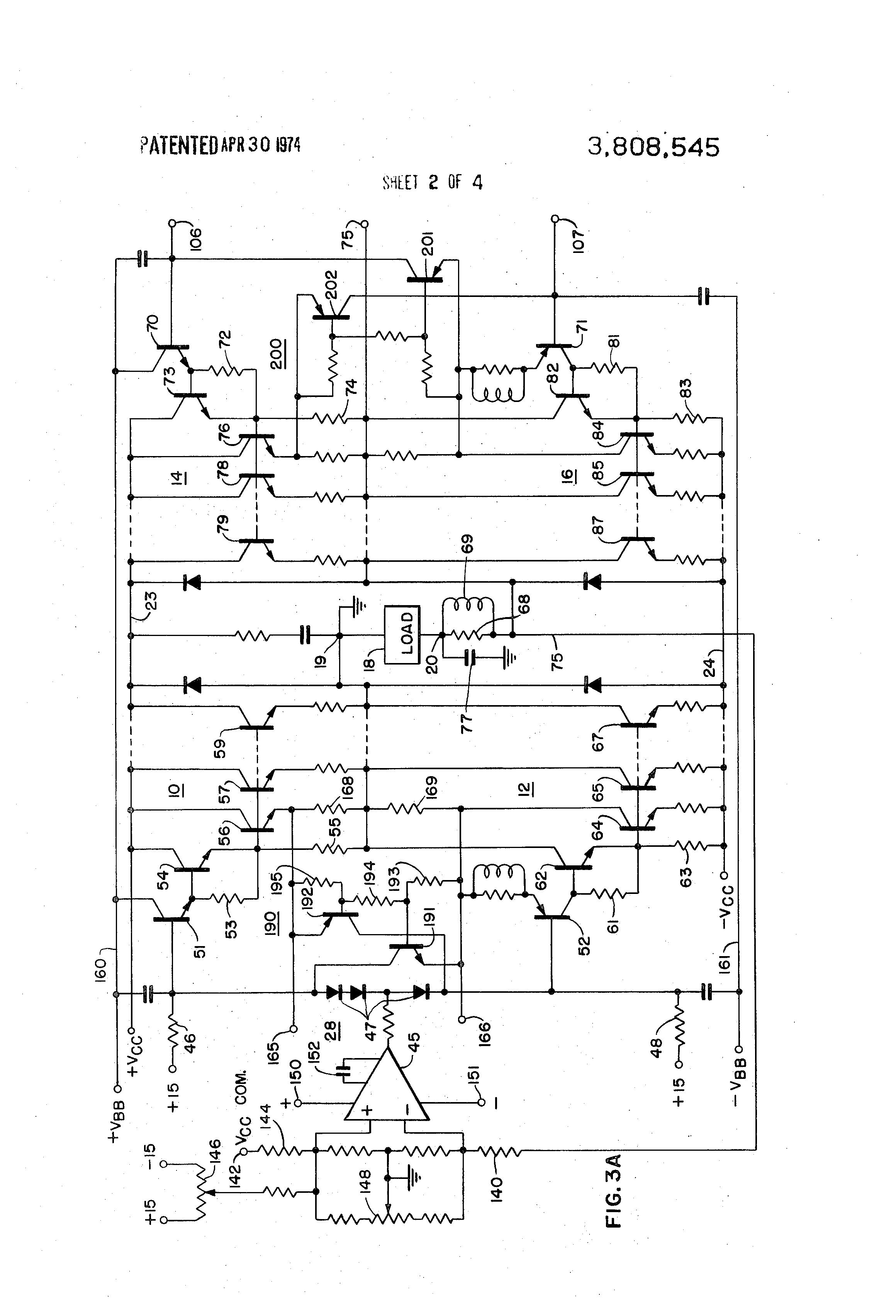 Patent US3808545 - High power bridge audio amplifier ...