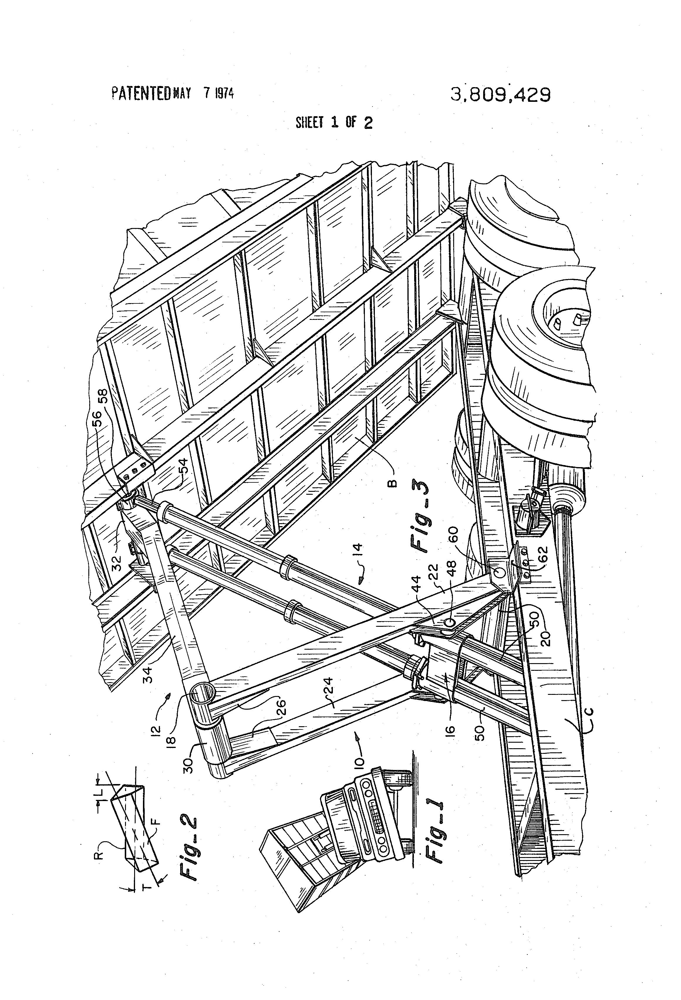 patent us3809429 - scissor frame assembly - google patents
