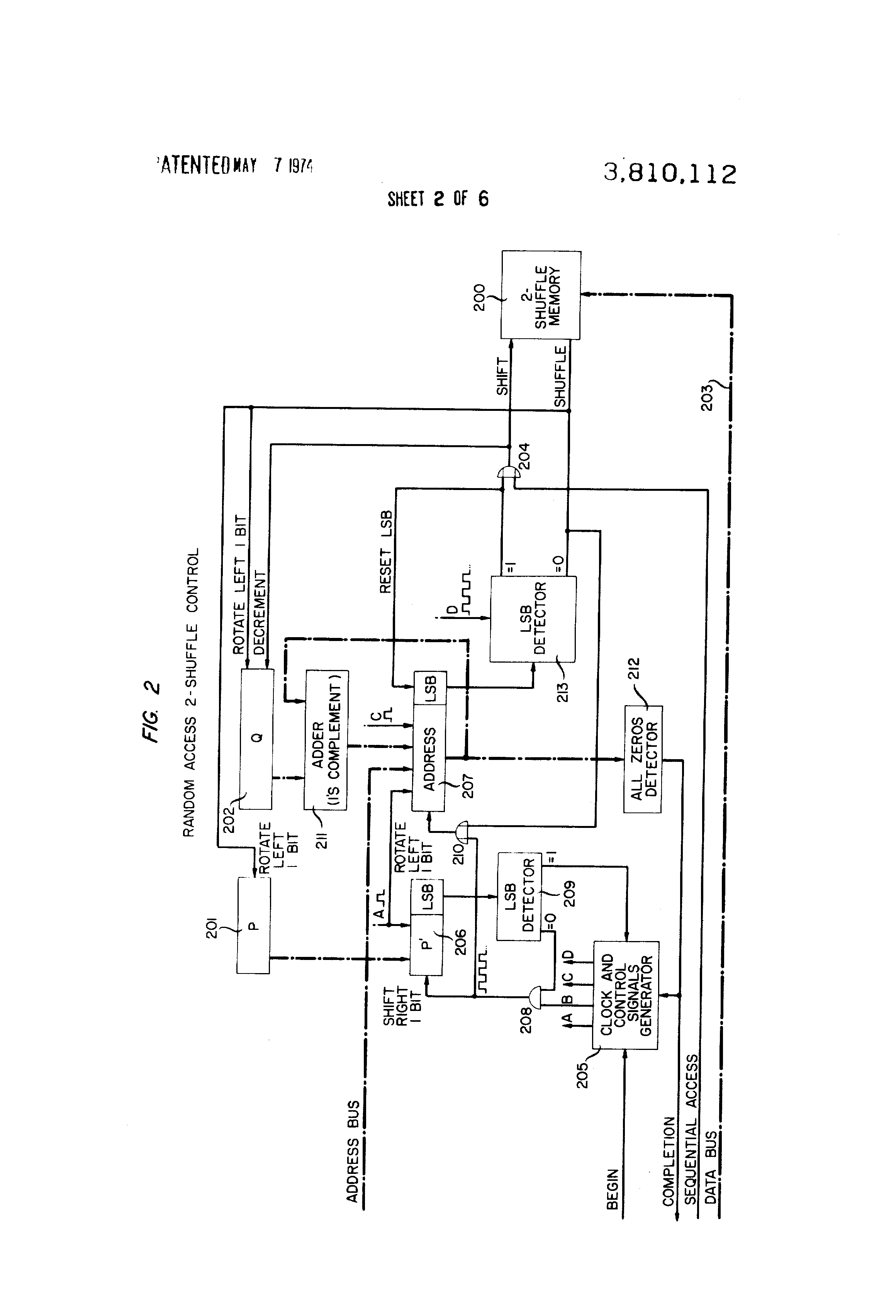 Patent Us3810112 Shift Shuffle Memory System With Rapid Sequential Adder Circuit I Have Successfully Drawn 8 Bit Full Drawing