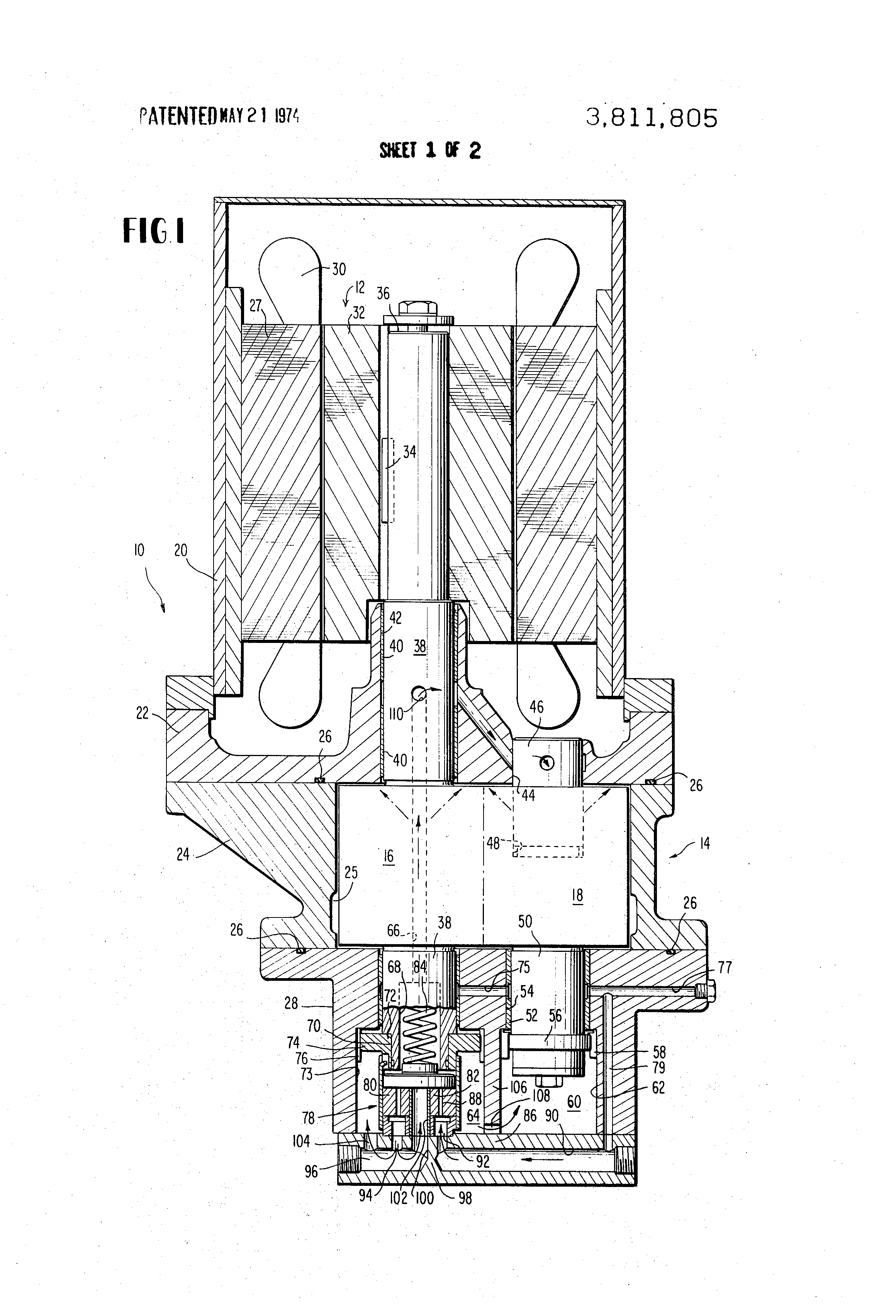 patent us3811805 - hydrodynamic thrust bearing arrangement for rotary screw compressor