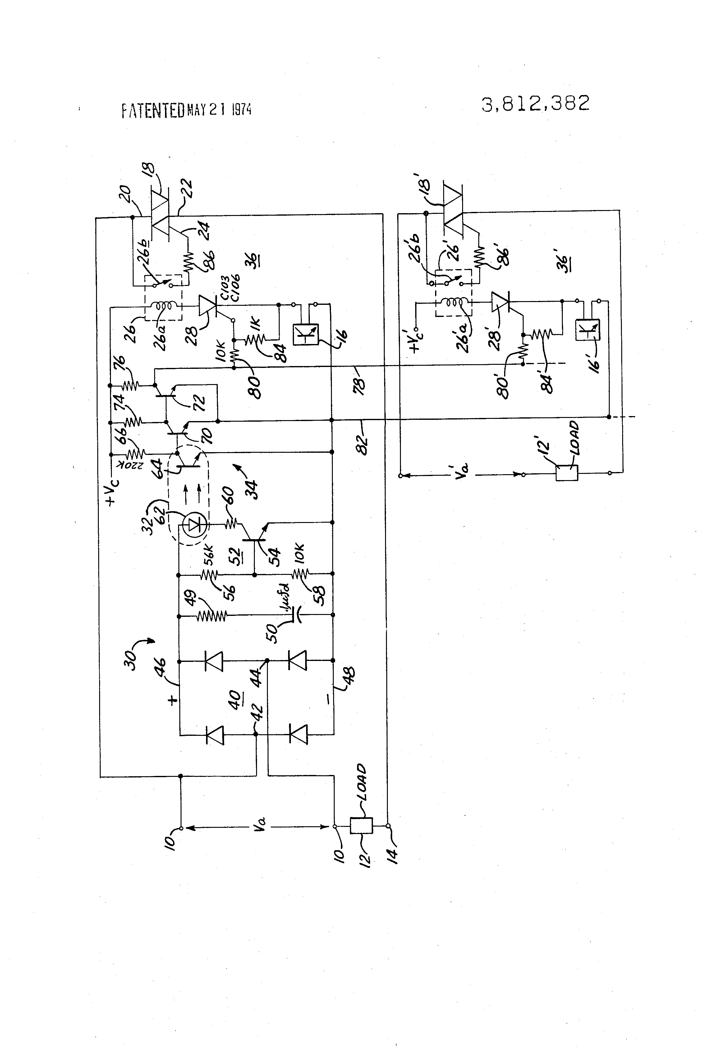 Patent Us3812382 Synchronous Switching Circuit Google Patents Scr And Triac Triggering With A Positive Power Supply Drawing