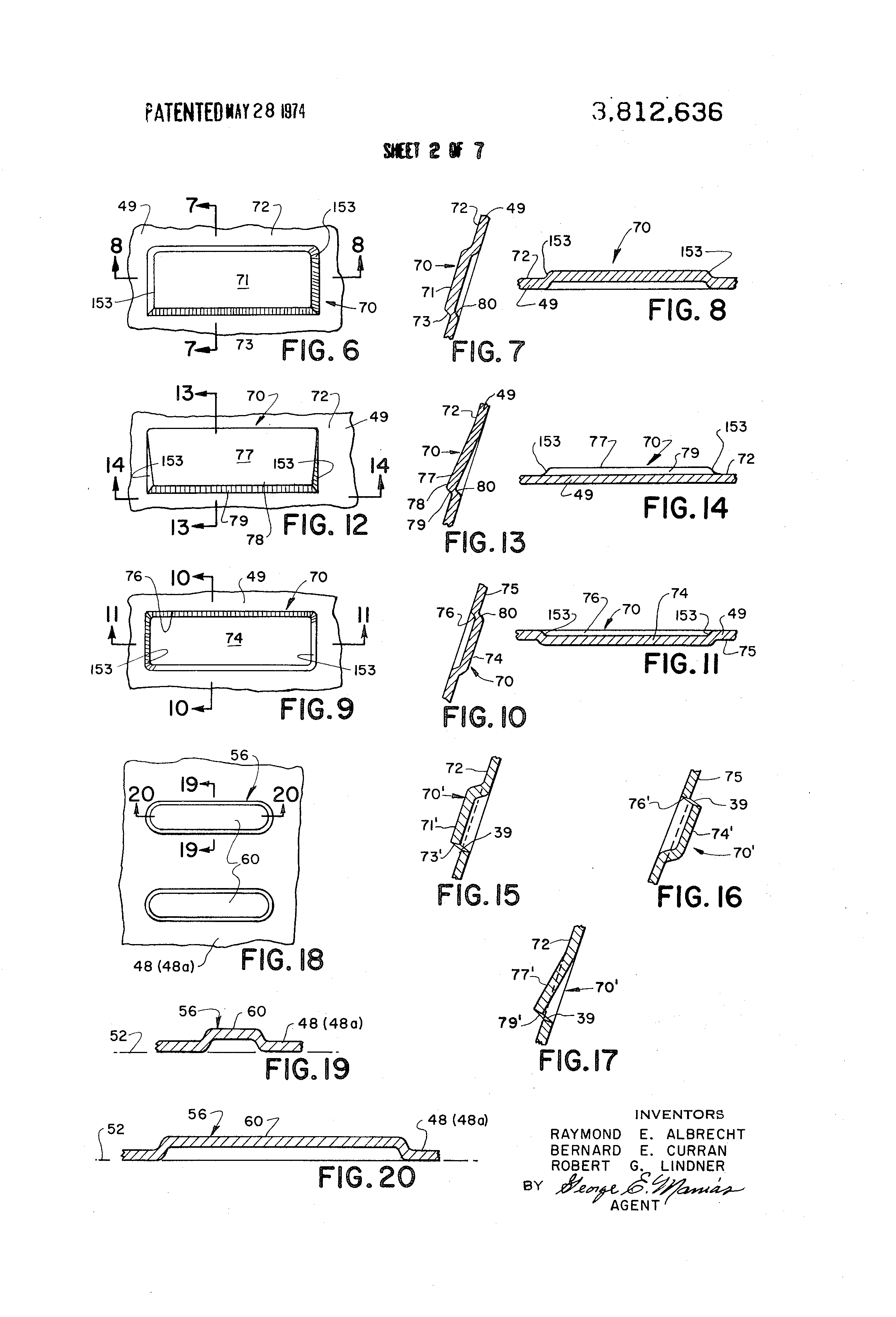 Patent Us3812636 Sheet Metal Decking Unit And Composite