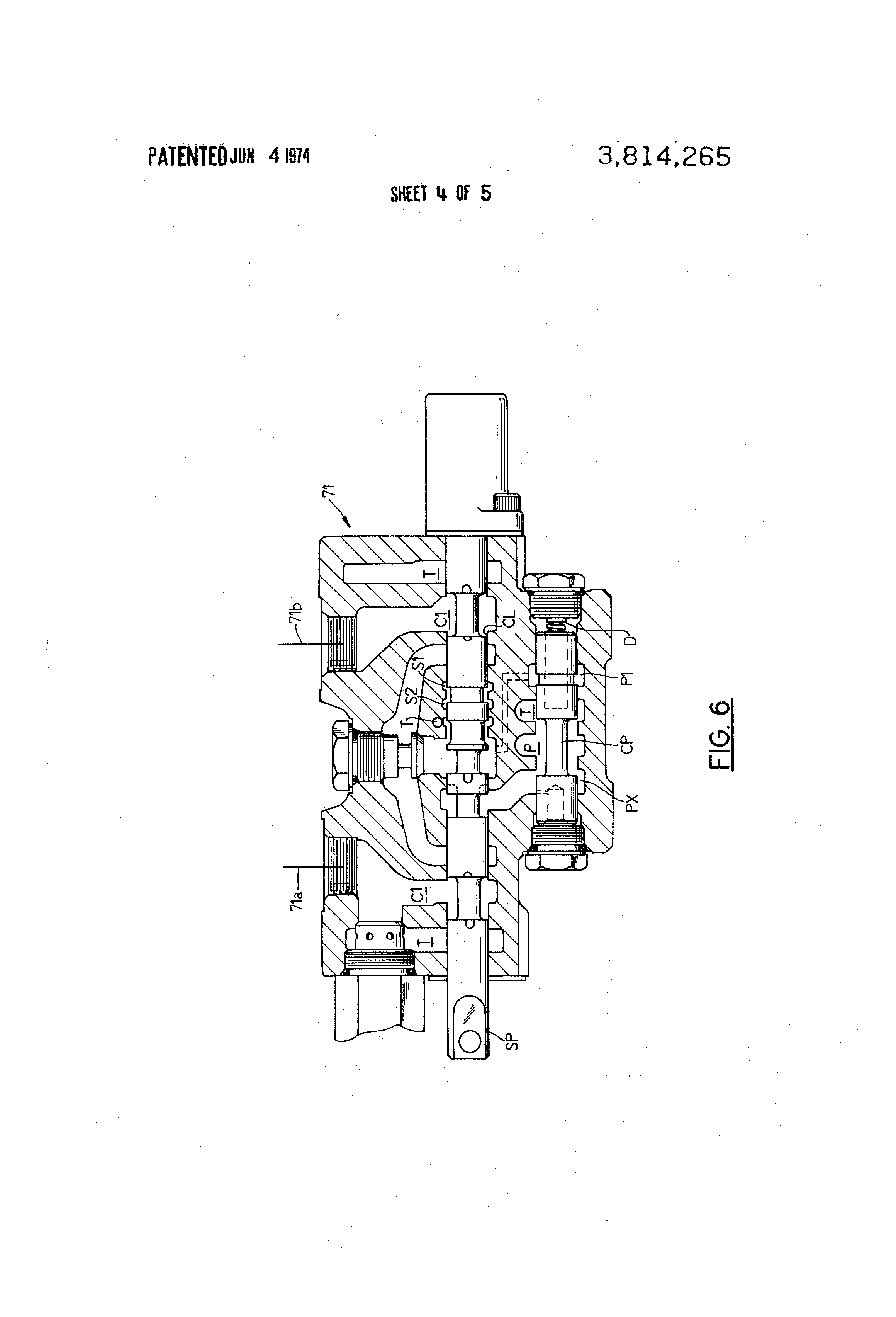 patent us3814265 hydraulic crane control system having means for patent drawing
