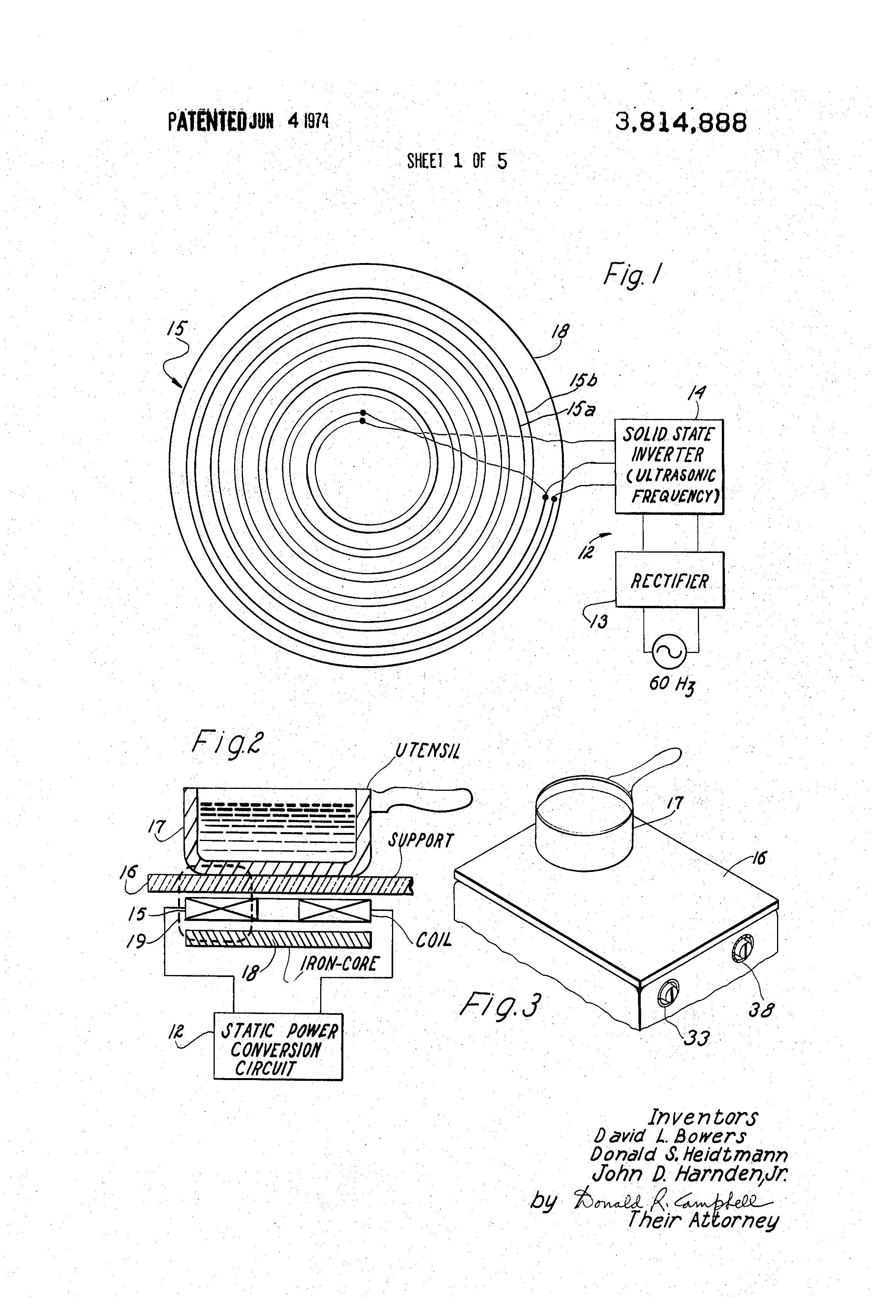 patent us3814888 - solid state induction cooking appliance