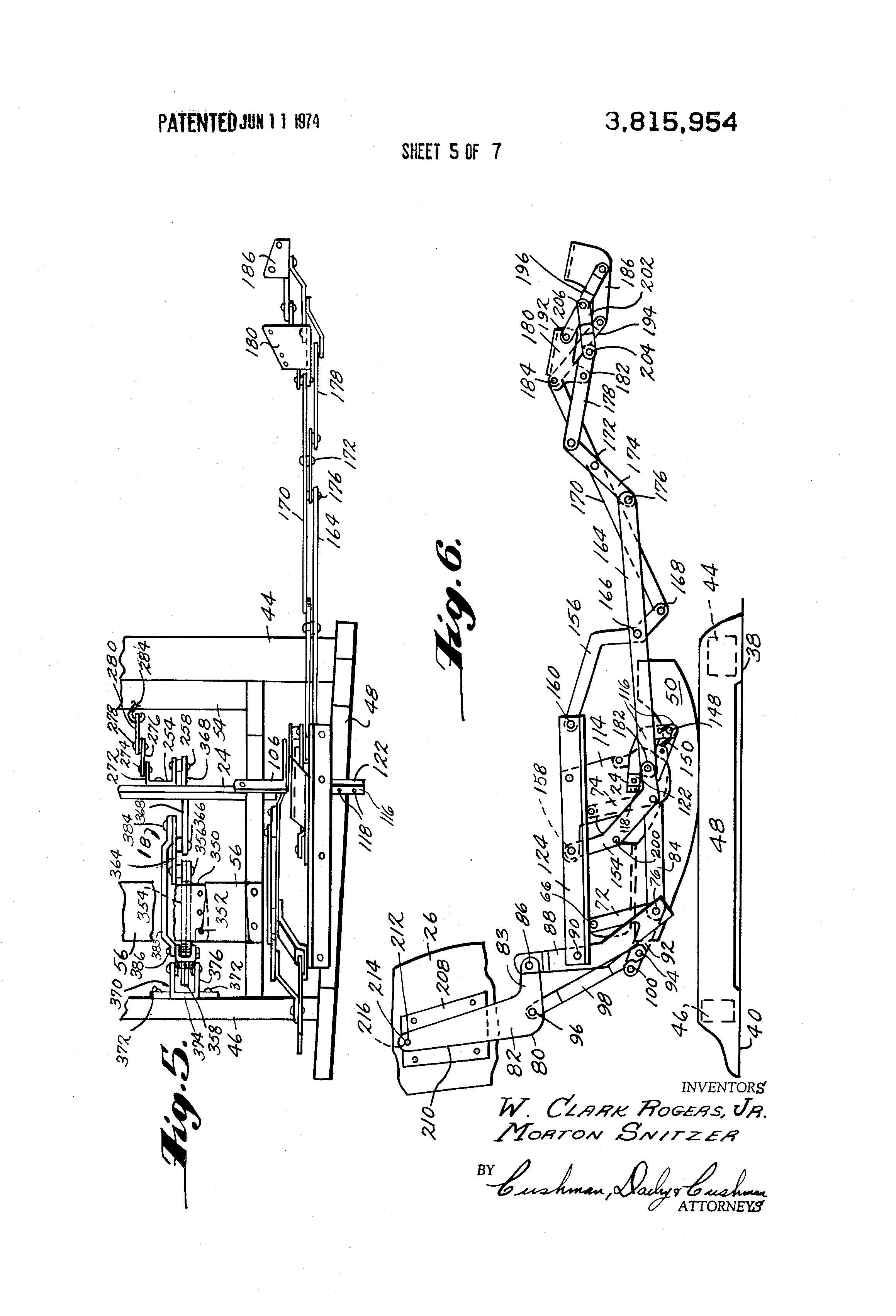 Patent US3815954 - Rocker recliner chair - Google Patents