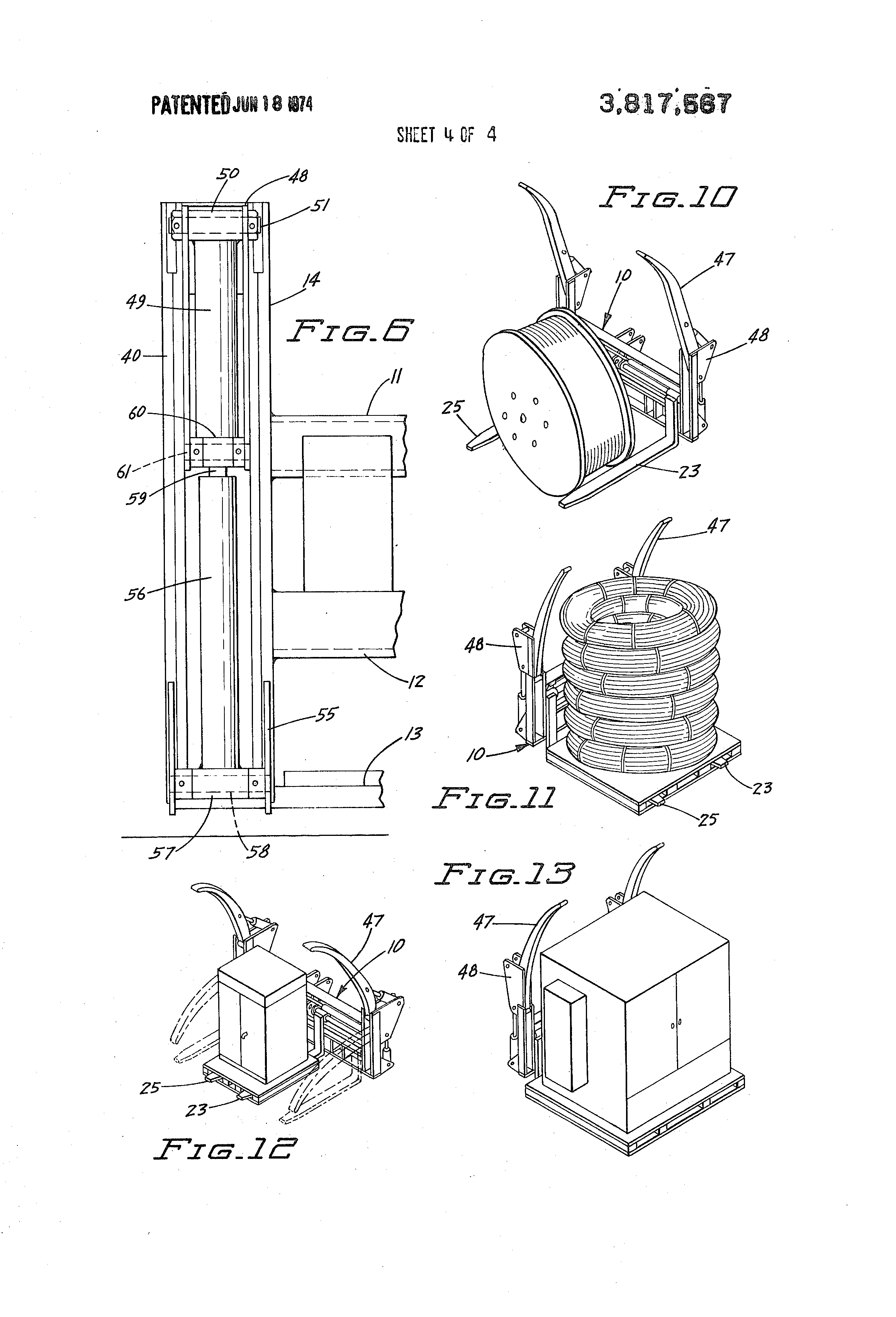 Deweze Wiring Diagram Patent Us3817567 Versatile Utility Carriage For Mobile Loaders Drawing