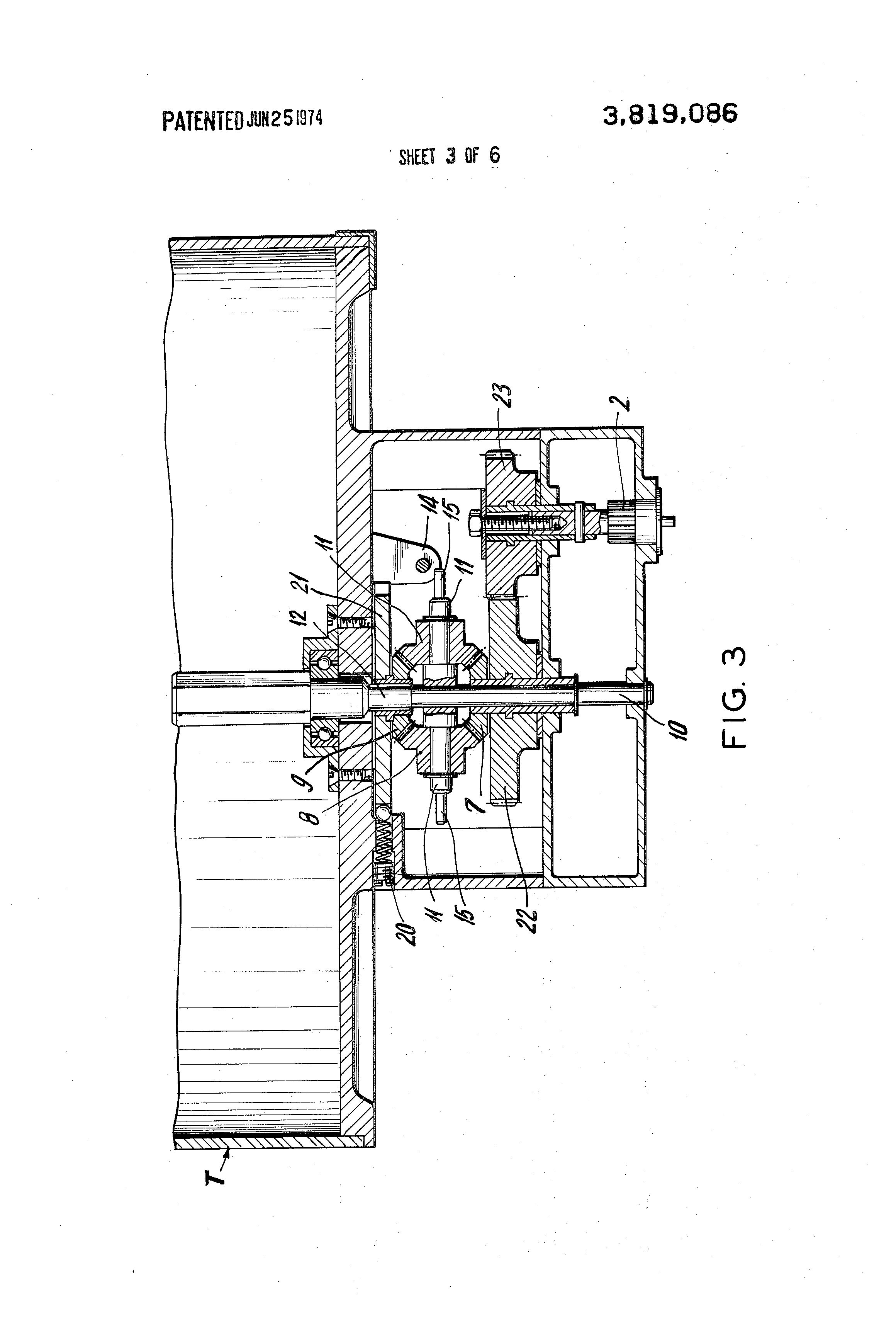 patent us3819086 - device for rotating the cup-holder turret of an automatic dispenser