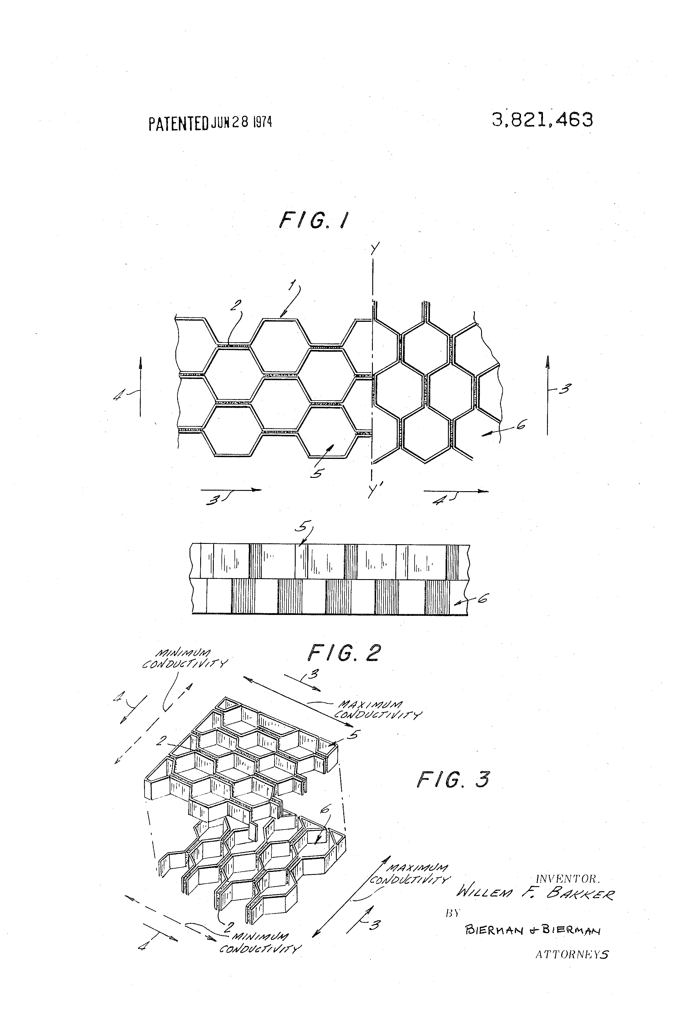 Patent US3821463 - Electromagnetic shielding material - Google Patents