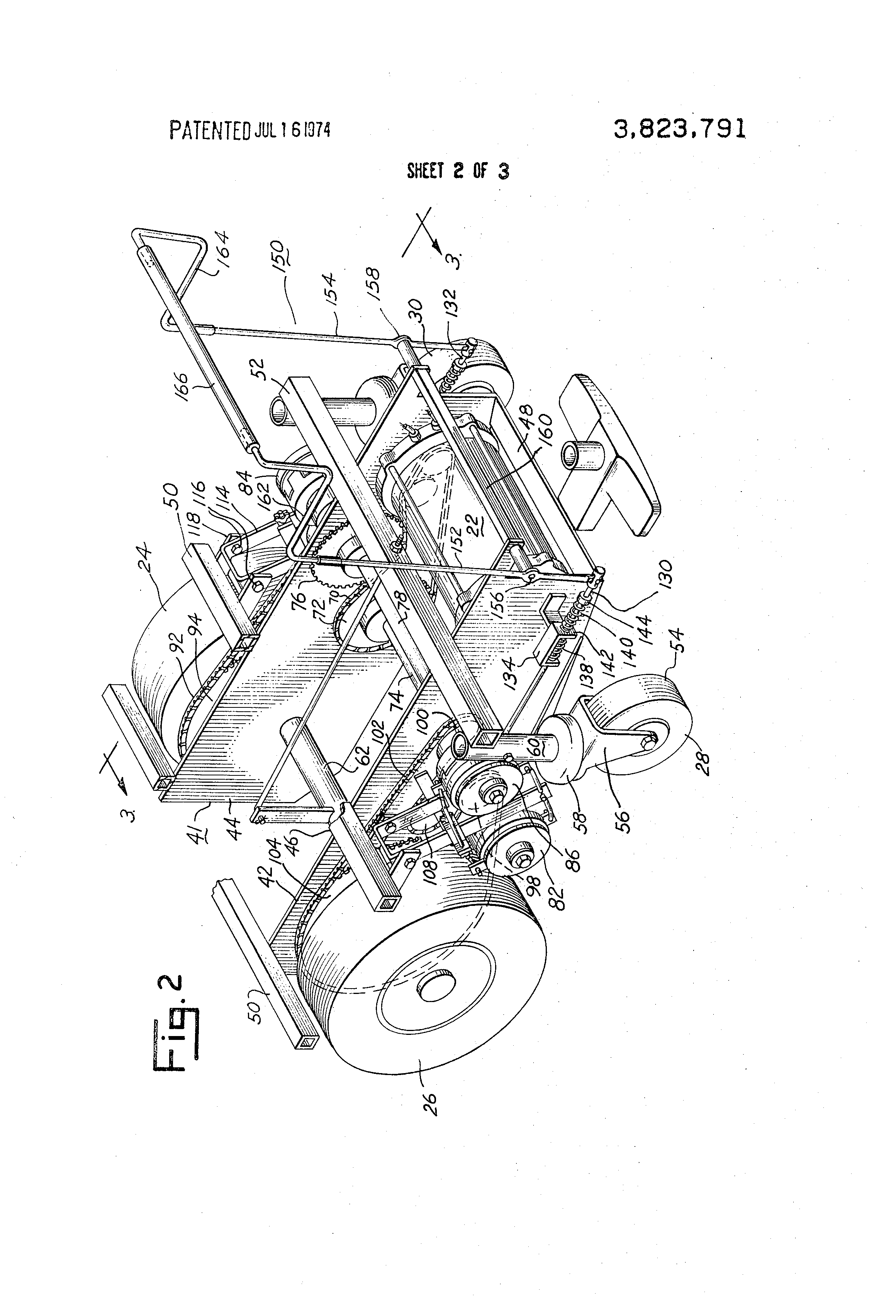 Patent Us3823791 Steering And Drive Mechanism For Floor