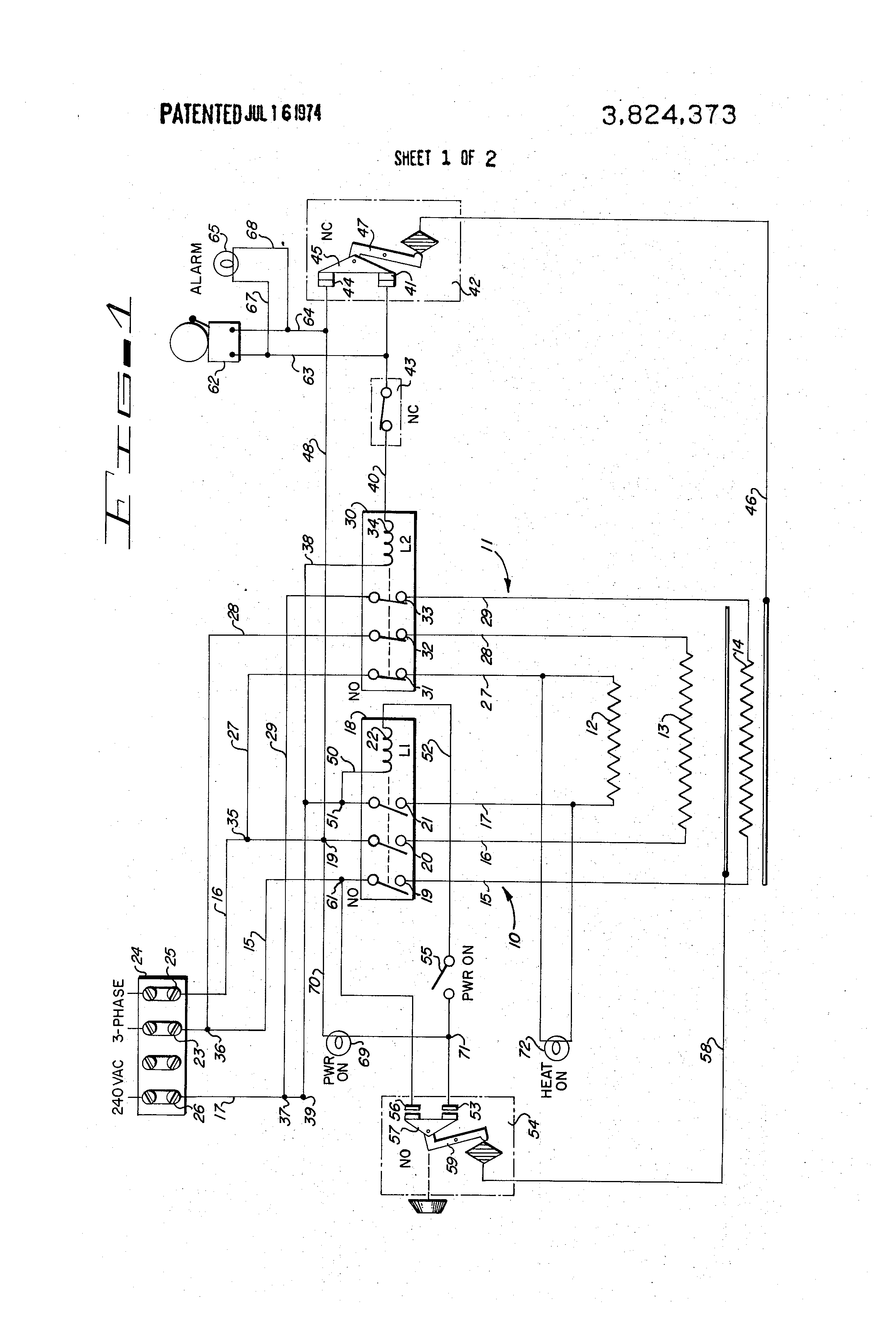 patent us3824373 - safety circuit for deep fat fryer