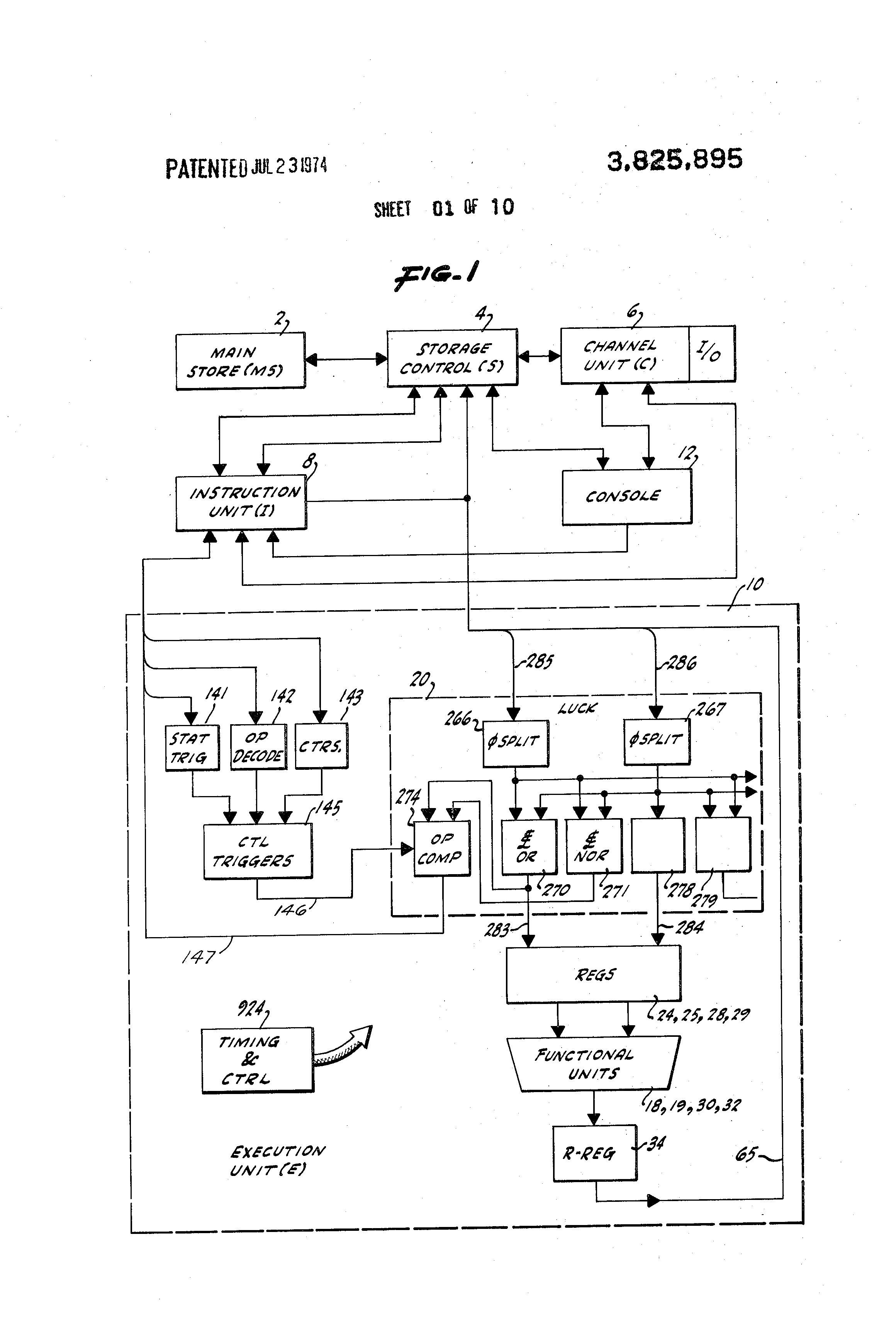 Patent Us3825895 Operand Comparator Google Patents 1 Bit Block Diagram Drawing