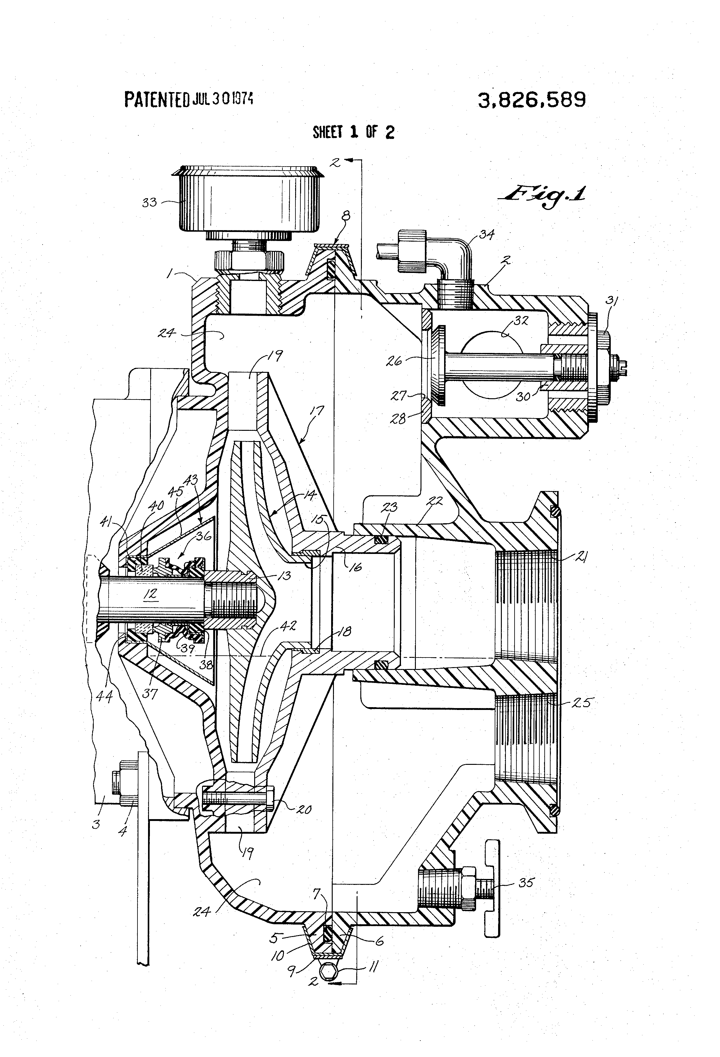 patent us3826589 - plastic pump construction