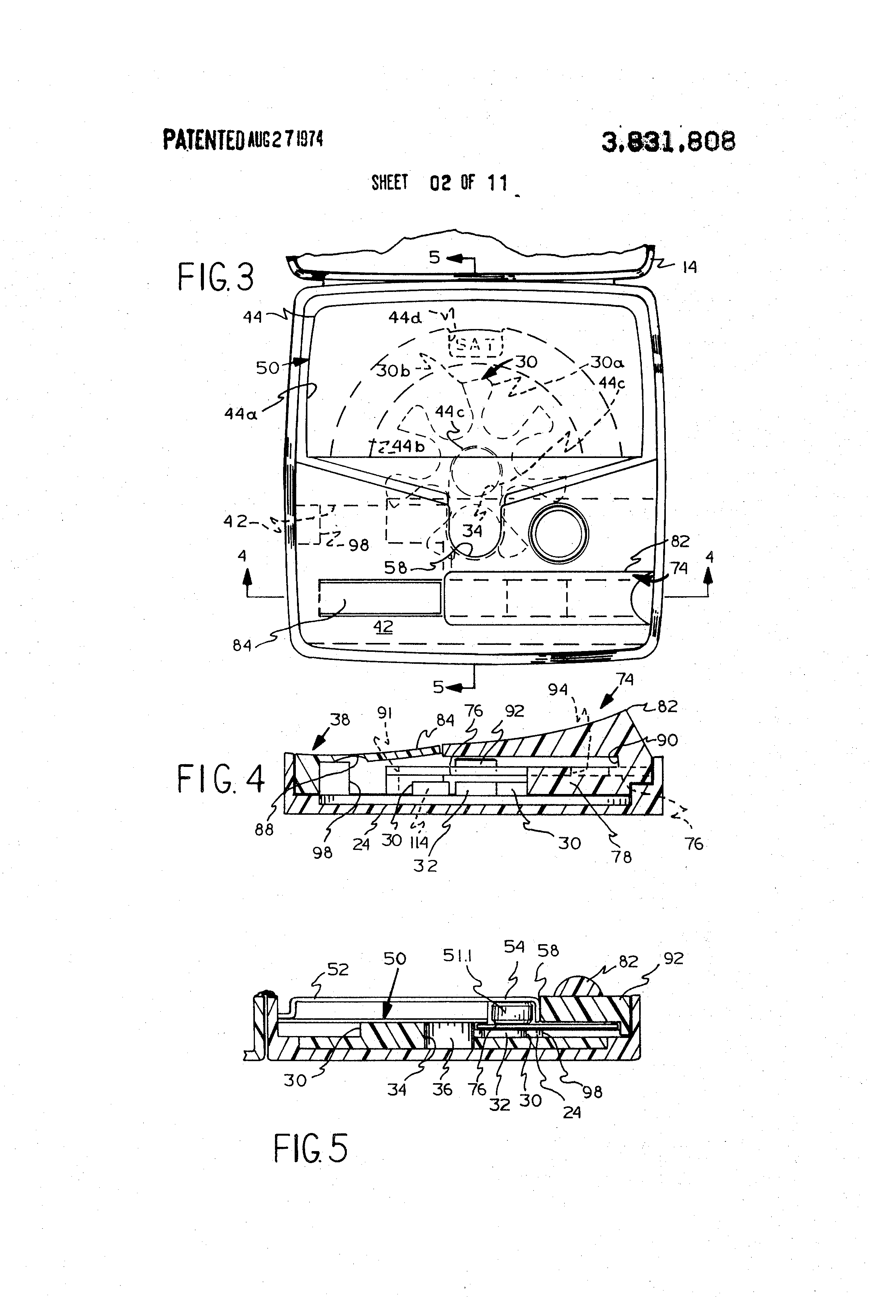 Patent Us3831808 Pill Cartridge For A Pill Dispenser Google Patents
