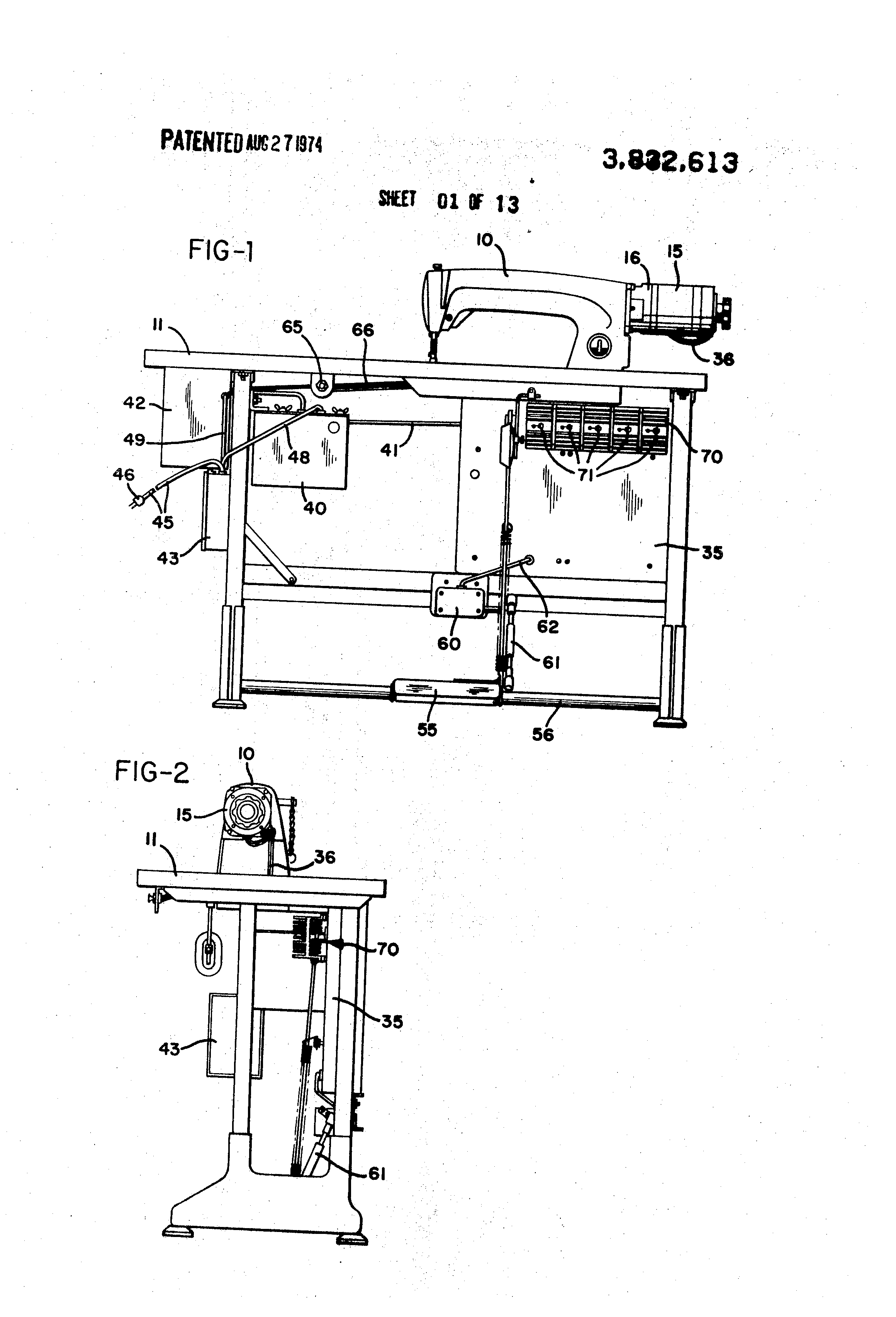 US3832613 1 patent us3832613 sewing machine motor and control circuit singer sewing machine foot pedal wiring diagram at aneh.co