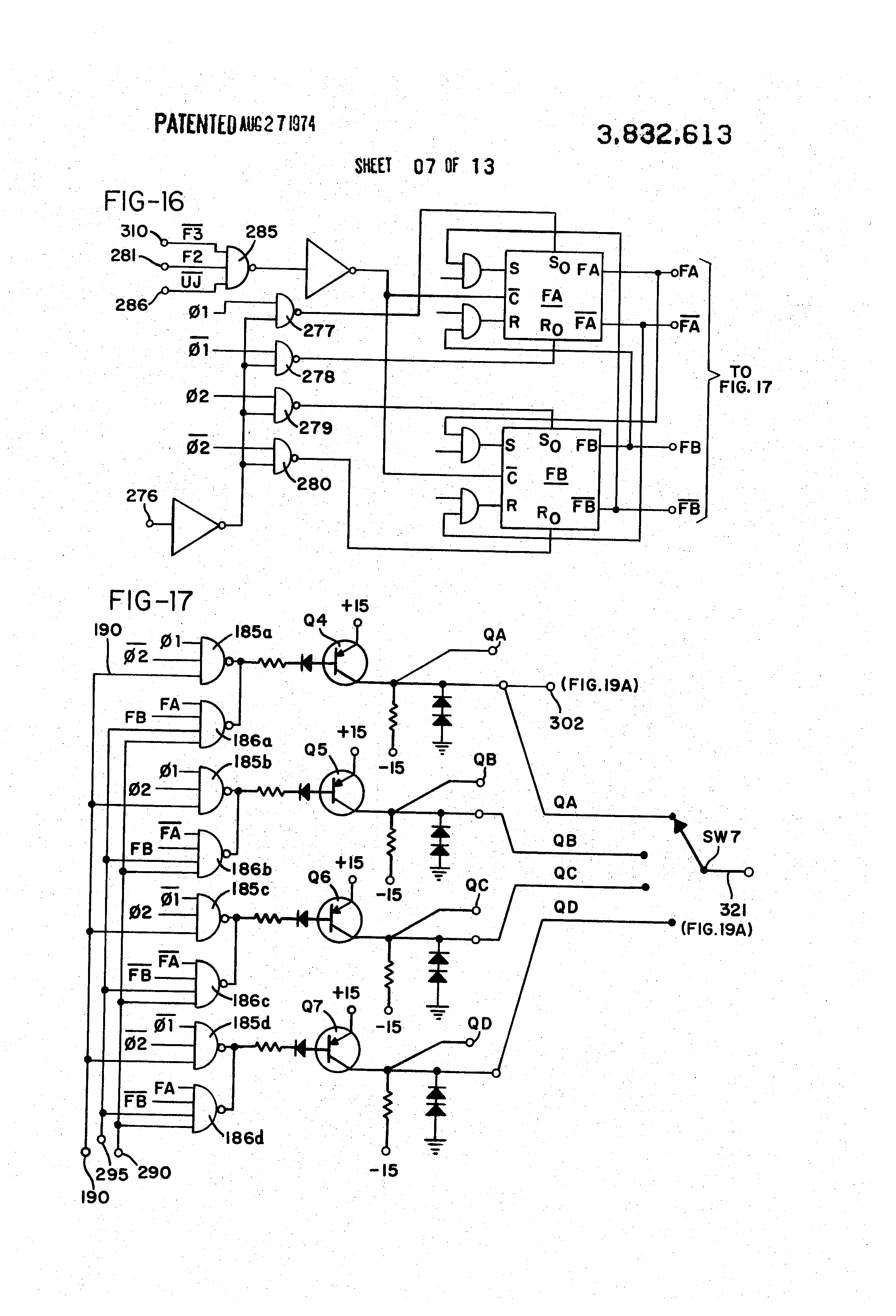 US3832613 7 patent us3832613 sewing machine motor and control circuit singer sewing machine wiring diagram at readyjetset.co