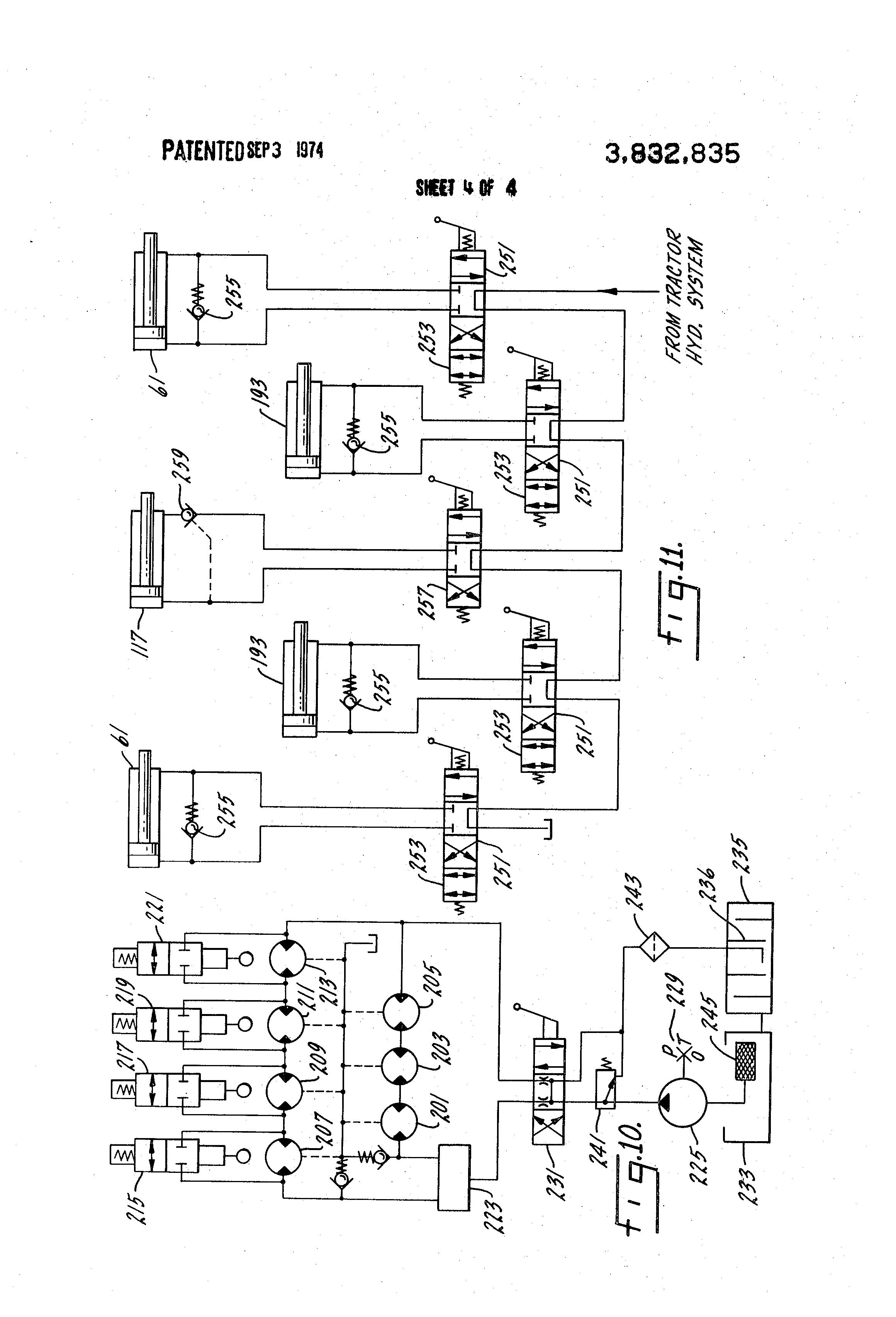 patent us3832835 - seven gang hydraulic reel mower