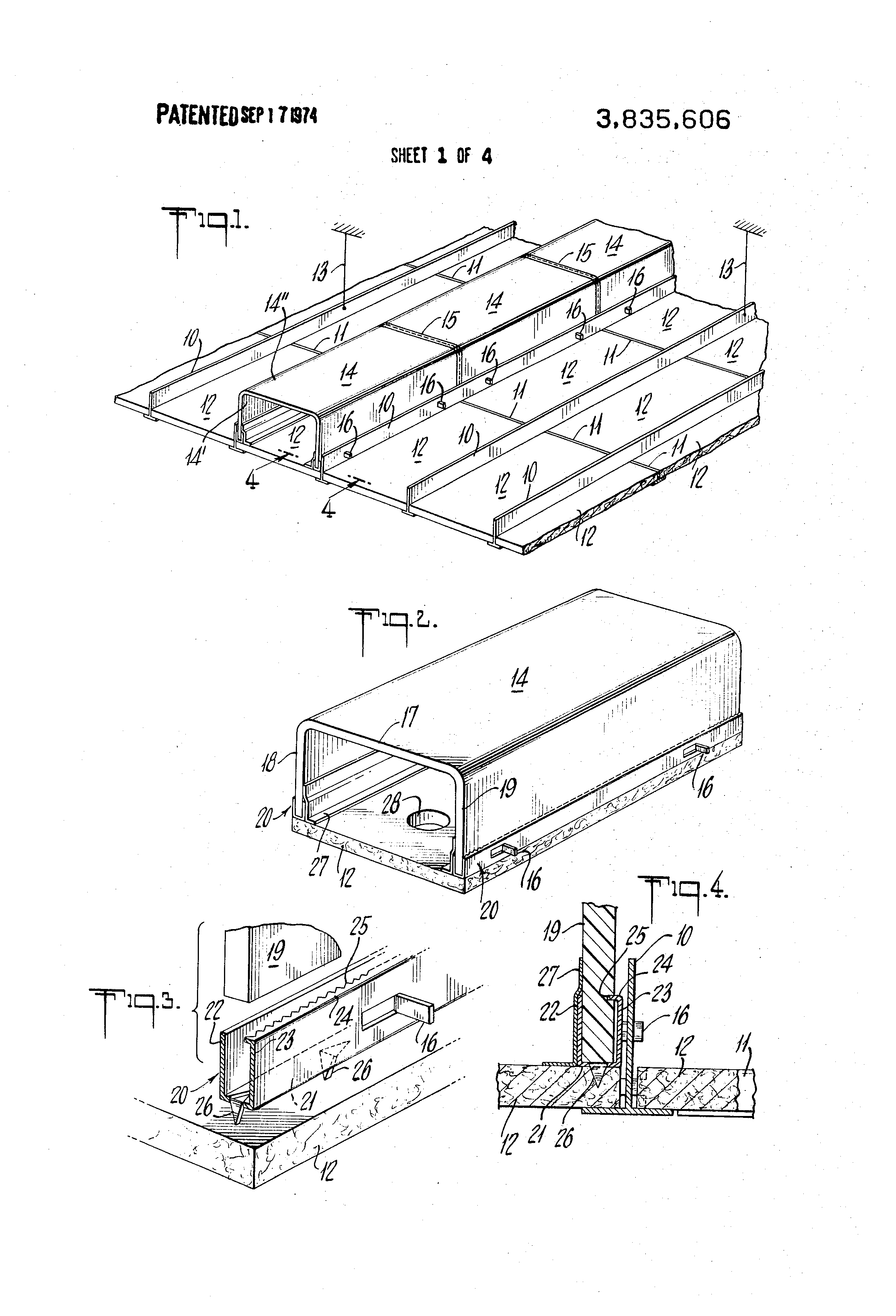 Patent Us3835606 Combination Ceiling Tile And Air Duct