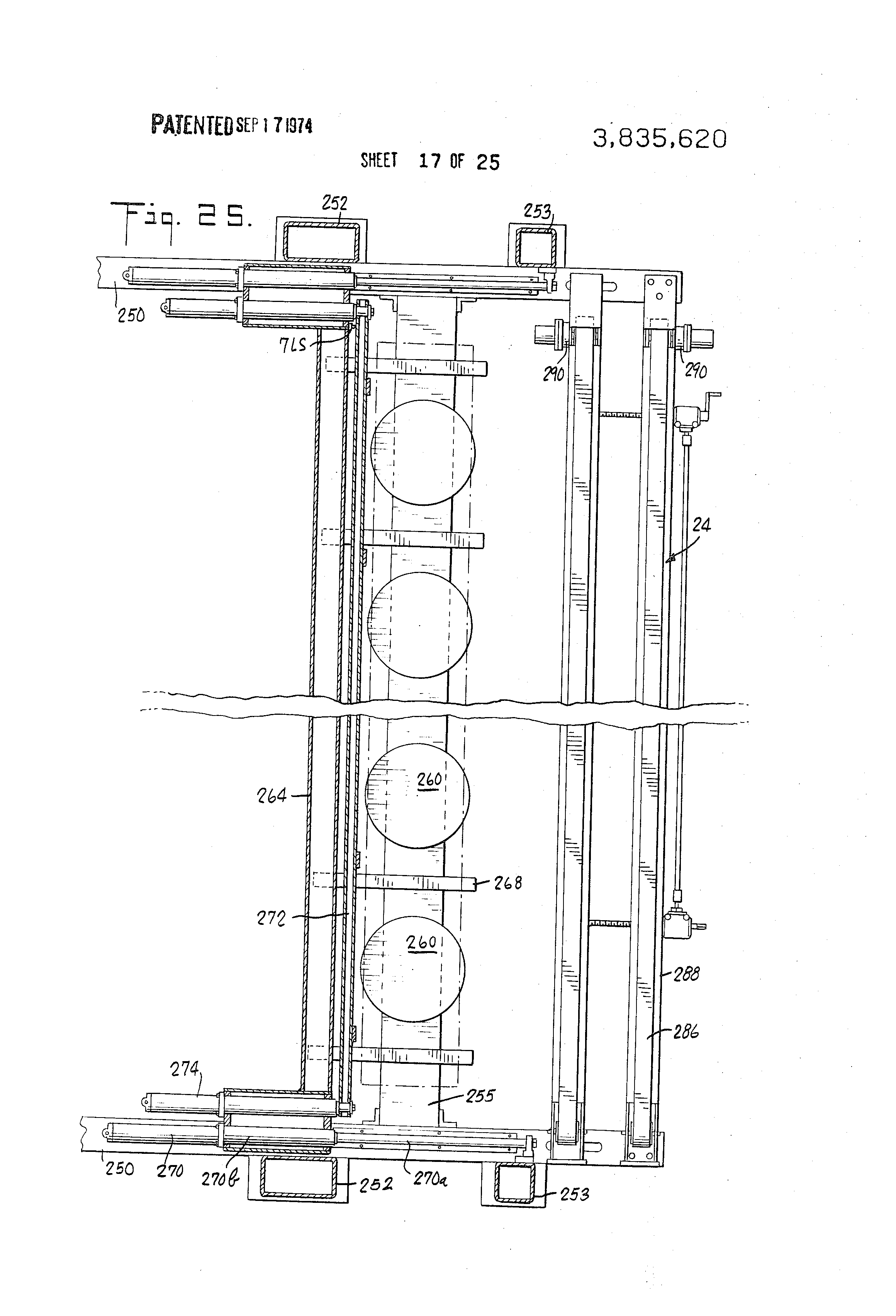 Patent Us3835620 Apparatus For Stacking Panels Or The