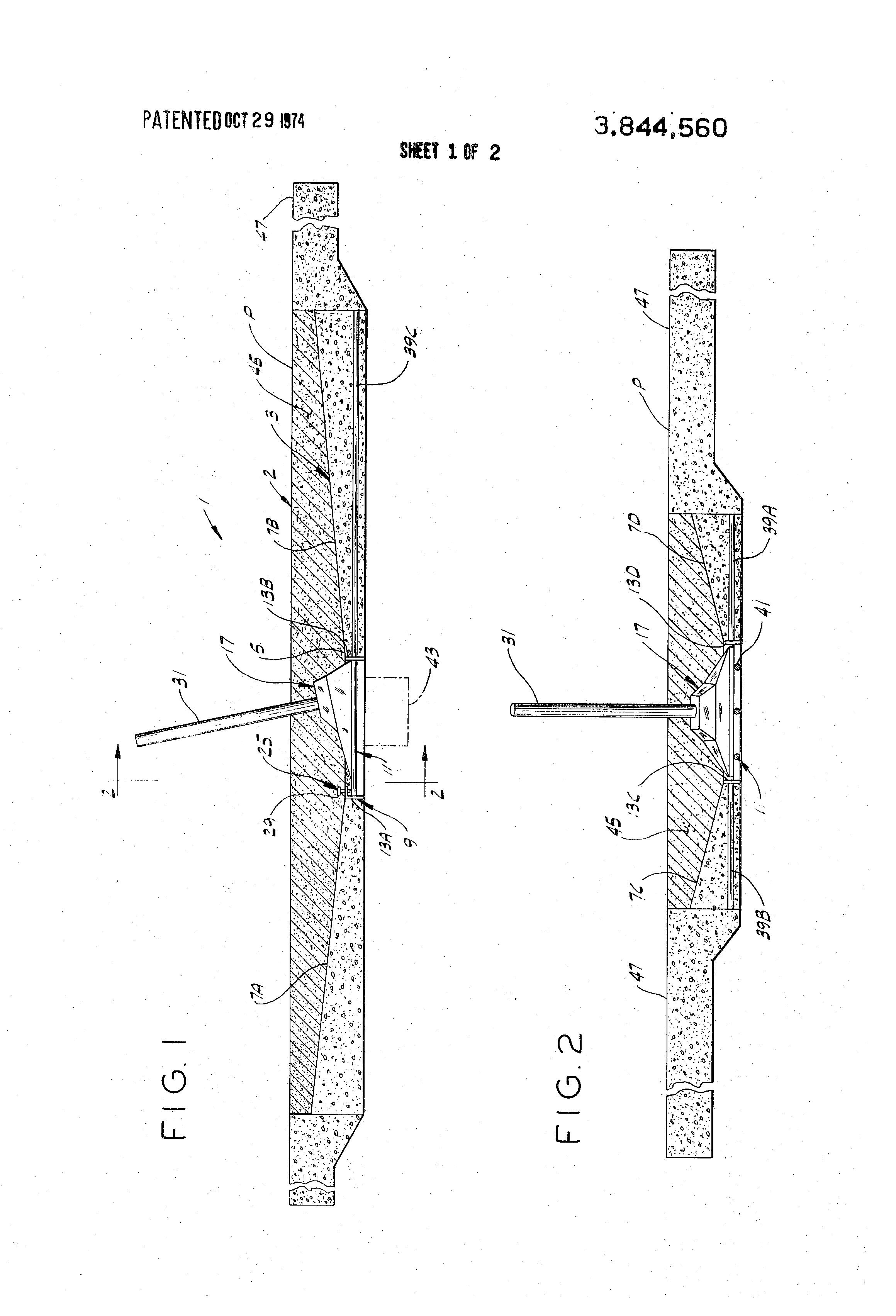 patent us3844560 - shock absorbing horseshoe pit