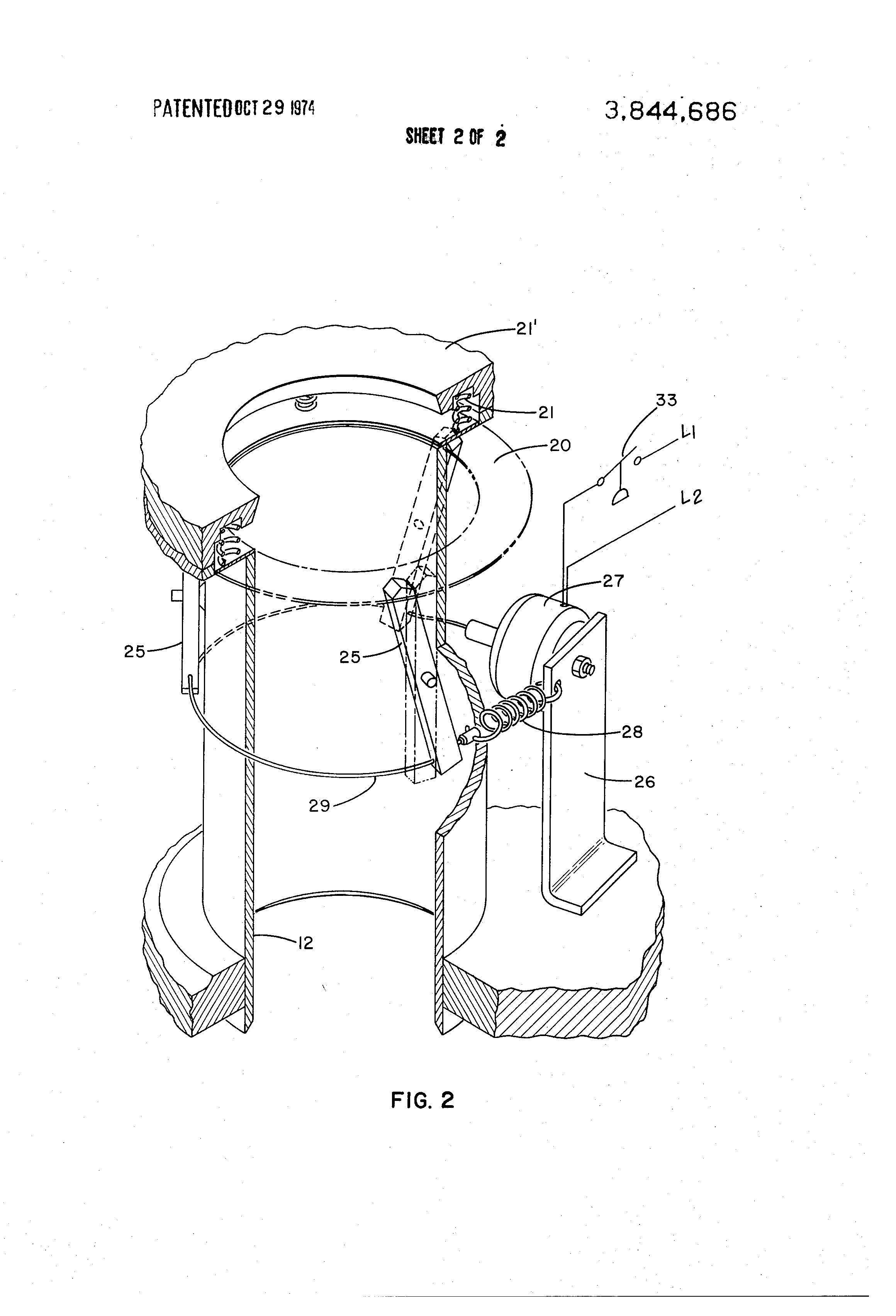 Patent US3844686 - Capacity control device for reciprocating