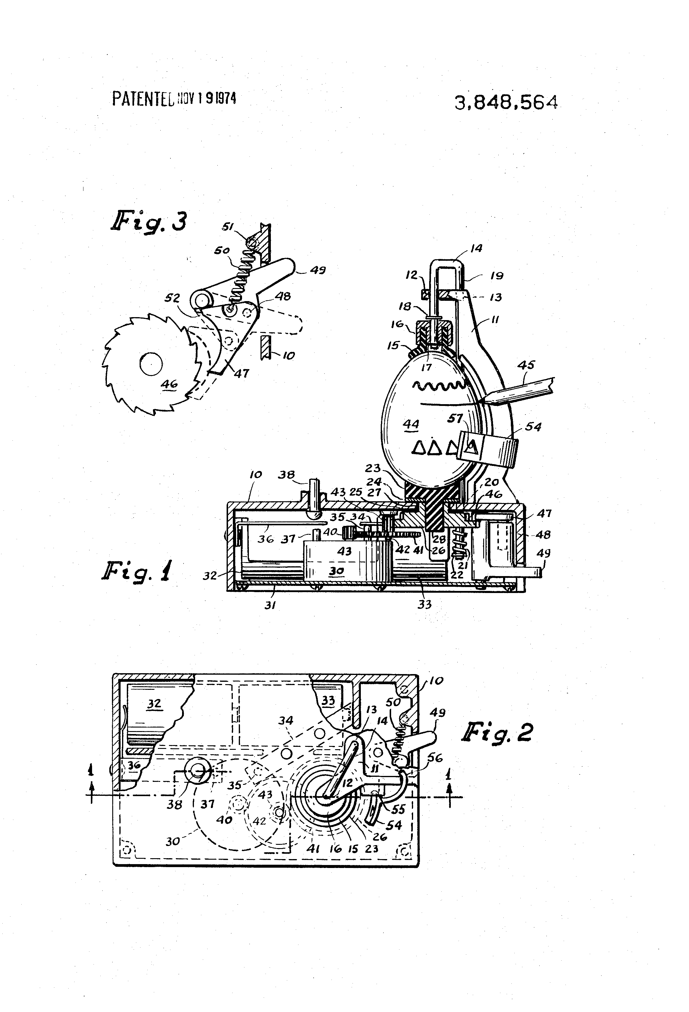 patent us3848564 - rotating egg coloring device