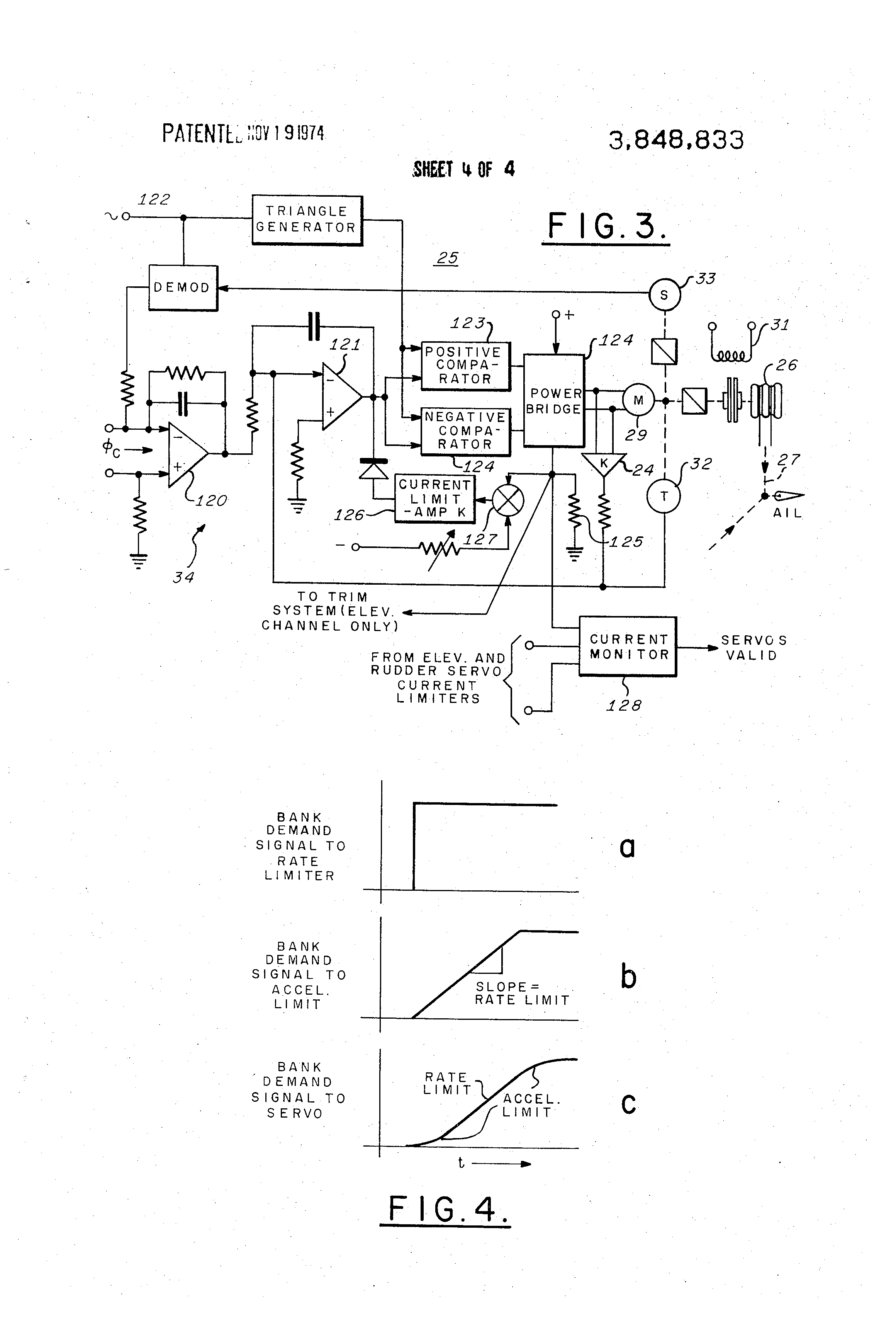 US3848833 4 patent us3848833 aircraft automatic flight control system century iv autopilot wiring diagram at gsmx.co